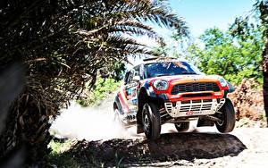 Hintergrundbilder Mini Vorne Mini Cooper Dakar X-raid 2014 auto Sport