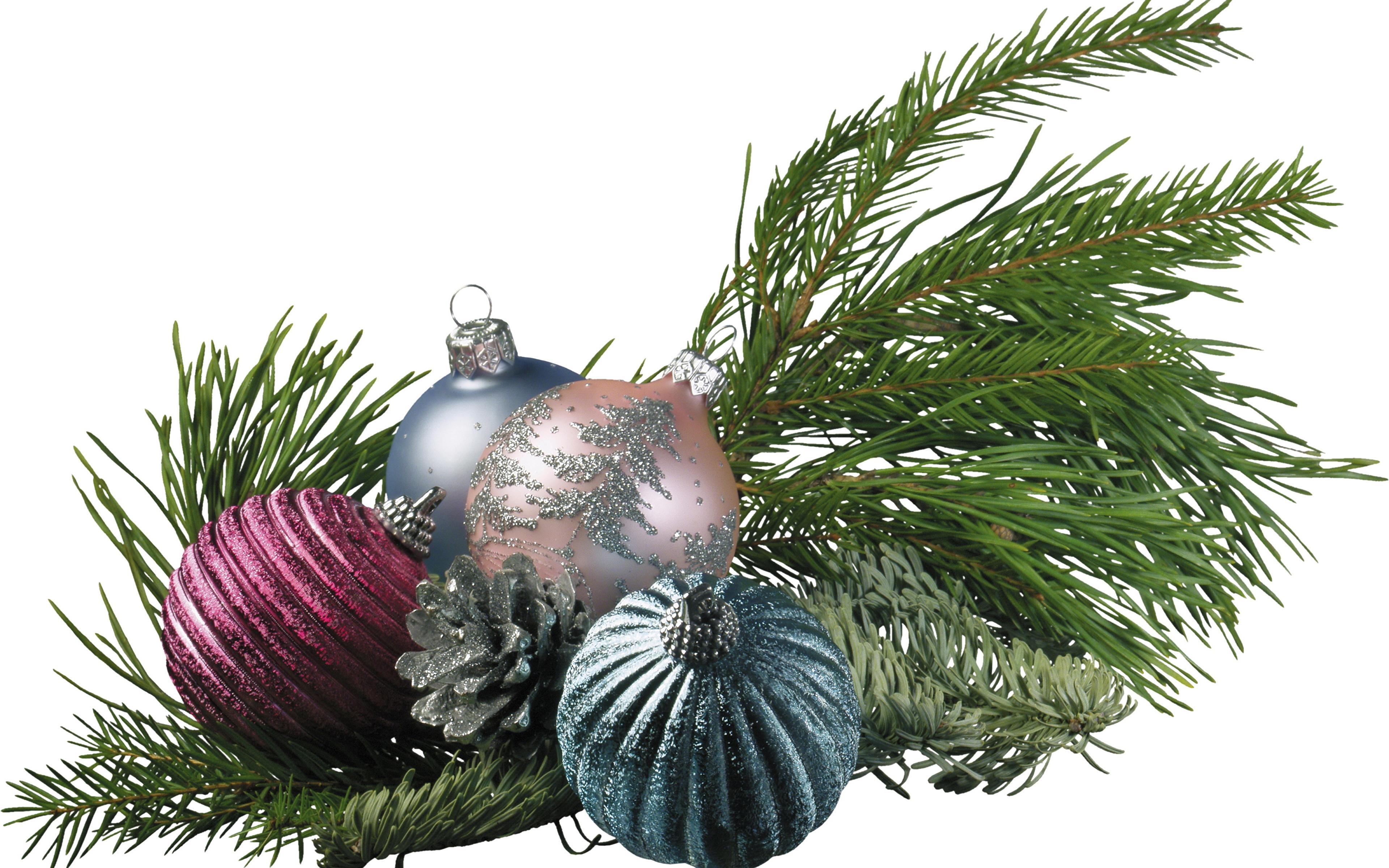 Weihnachtsbaum Ast.Fotos Von Neujahr Weihnachtsbaum Ast Kugeln Feiertage 3840x2400