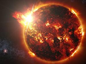 Fotos Großansicht Stern Sonne Kosmos
