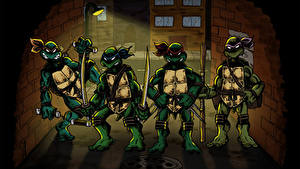 Hintergrundbilder Teenage Mutant Ninja Turtles Teenage Mutant Ninja Turtles Raphael Leonardo Michelangelo Donatello