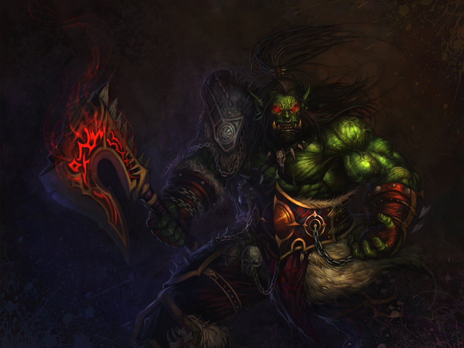 Photo Wow Orc Warriors Fantasy Games 1600x1200