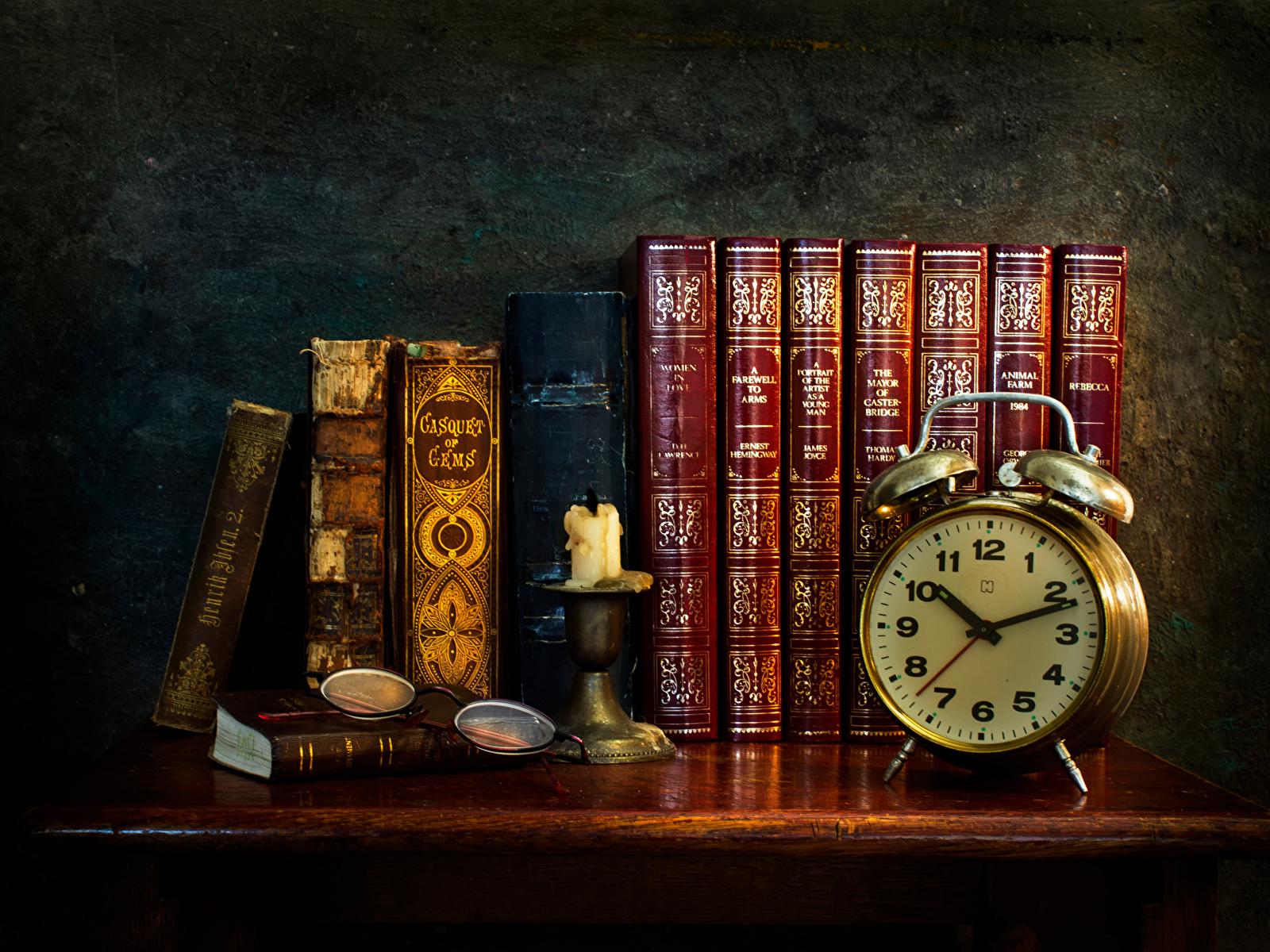 Wallpaper Retro Clock Alarm Book