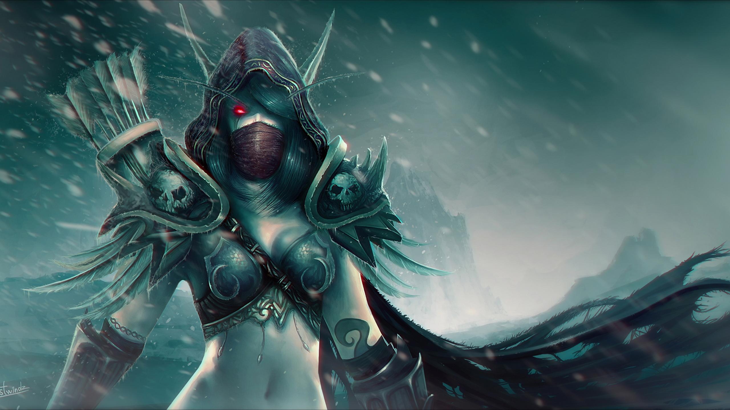 Images World Of Warcraft Elf Warrior Sylvanas Windrunner 2560x1440