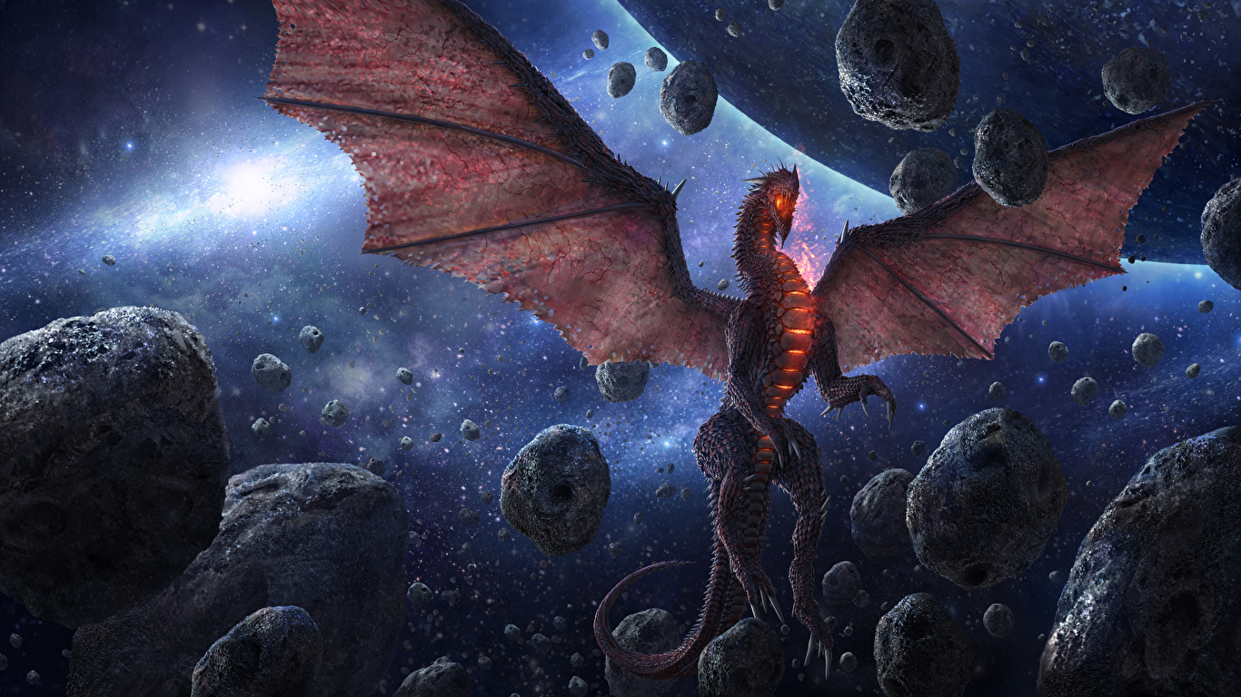 Pictures Dragons Wings Chris Fox, Planet Strider Space Fantasy stone 1366x768 dragon Stones