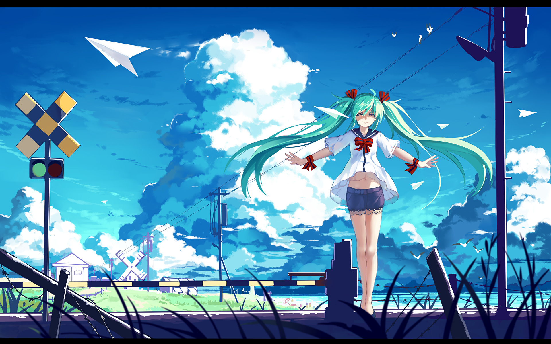 Picture Vocaloid Hatsune Miku Haraguroi You Anime Young 19x10
