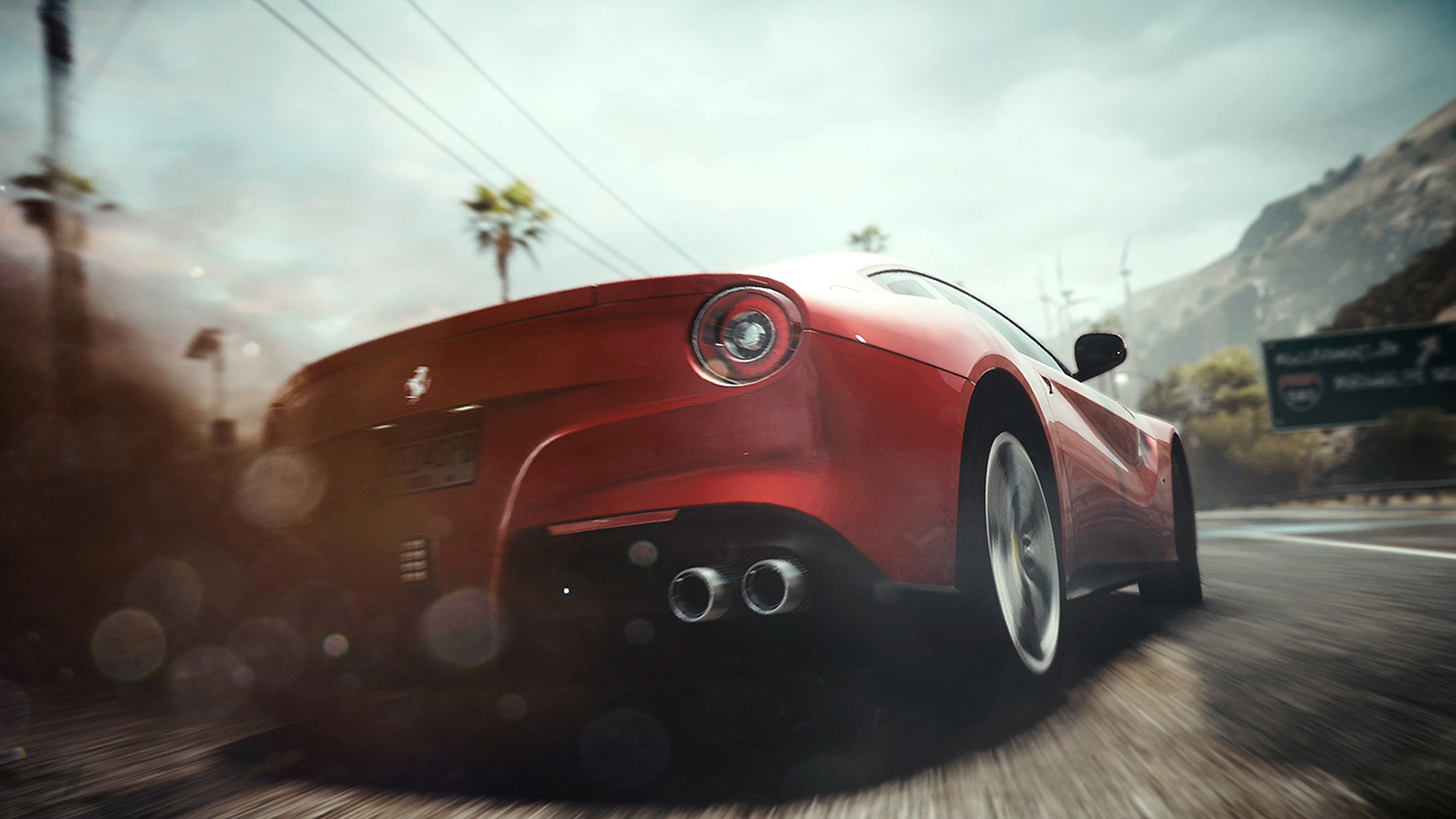 Photo Need For Speed Ferrari Rivals Red Games Auto Back 2560x1440