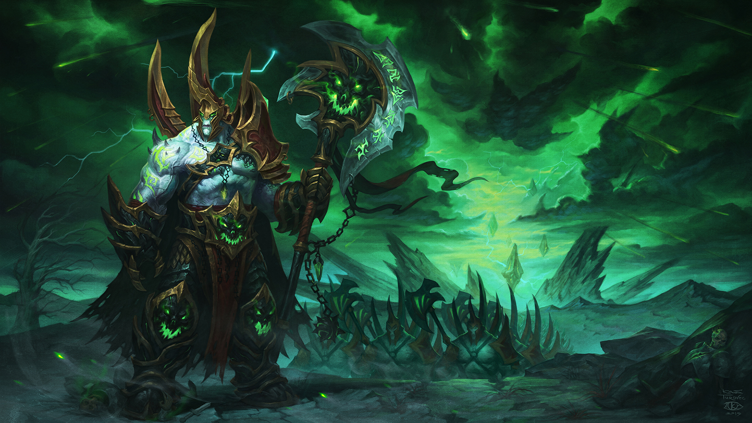 Photo World Of Warcraft Armor Shaman Mage Staff Warriors 2560x1440
