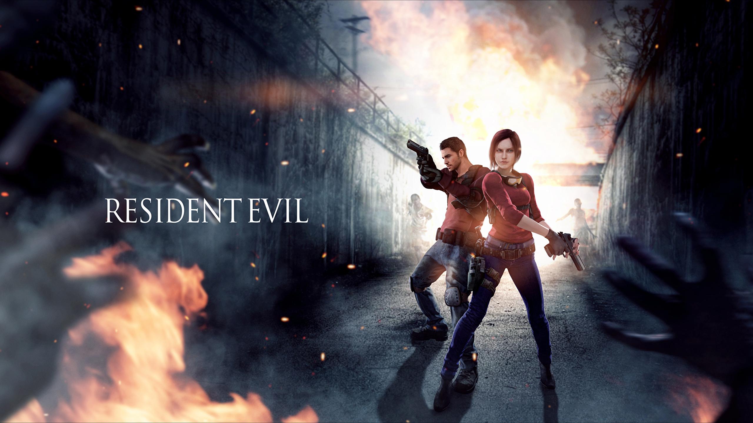 Wallpaper Female Resident Evil Claire Redfield Chris 2560x1440