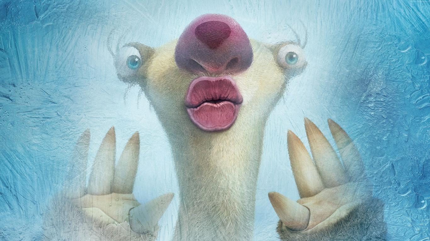 Bilder von Ice Age – Kollision voraus! Sid Animationsfilm Großansicht 1366x768 Zeichentrickfilm hautnah Nahaufnahme