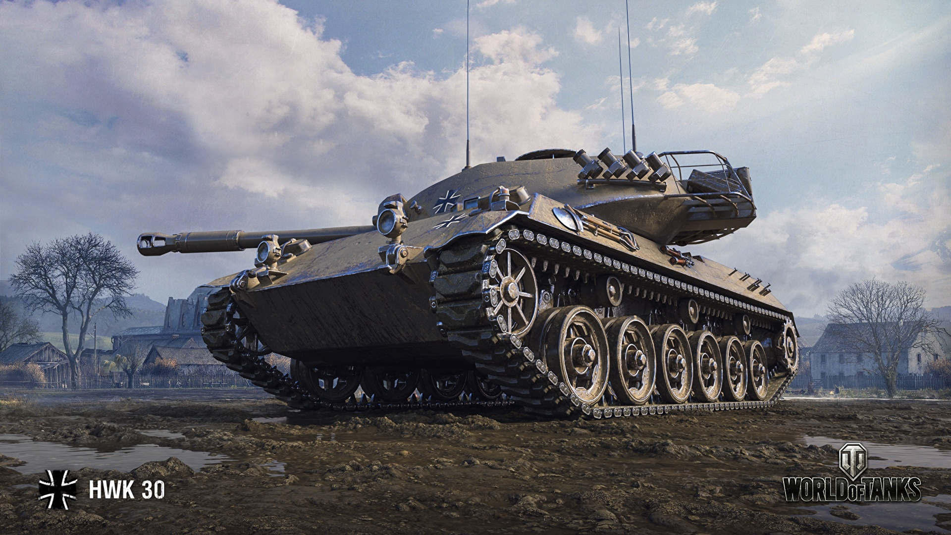 Pictures Games tank World of Tanks HWK 30 German 1920x1080