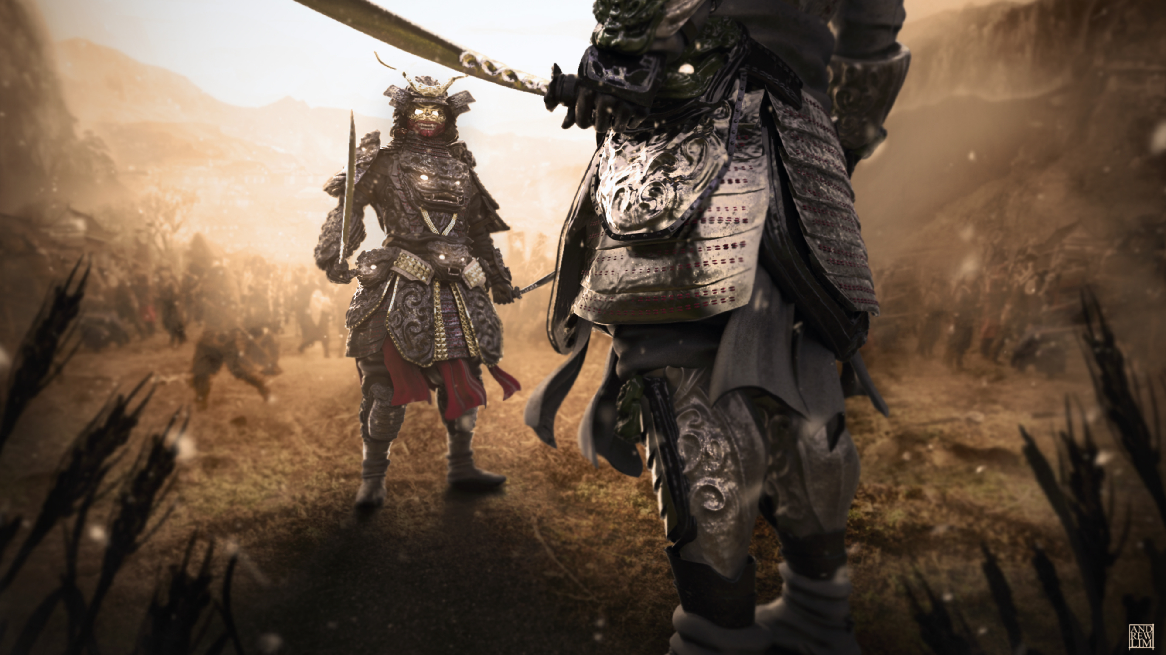 Wallpaper Armour Samurai Warrior 2 Fantasy 3840x2160