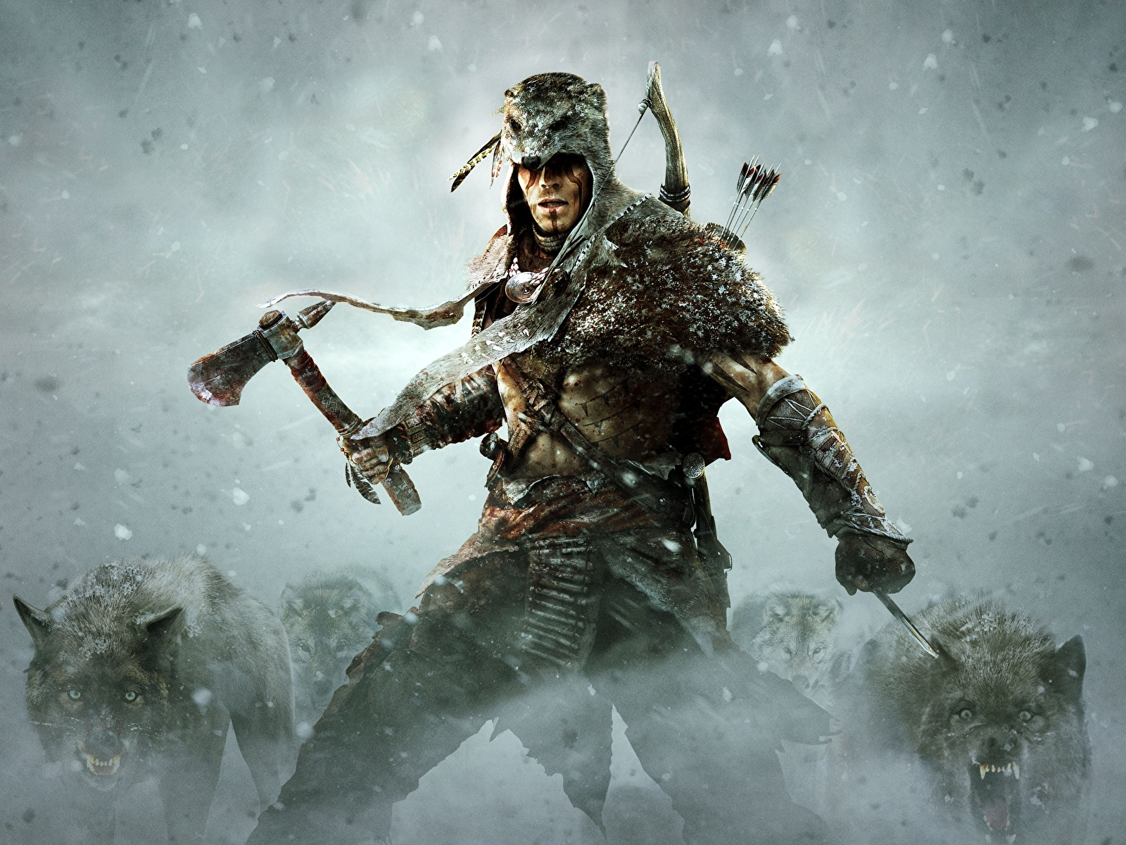 Image Assassin S Creed 3 Wolves Battle Axes Warriors 1600x1200