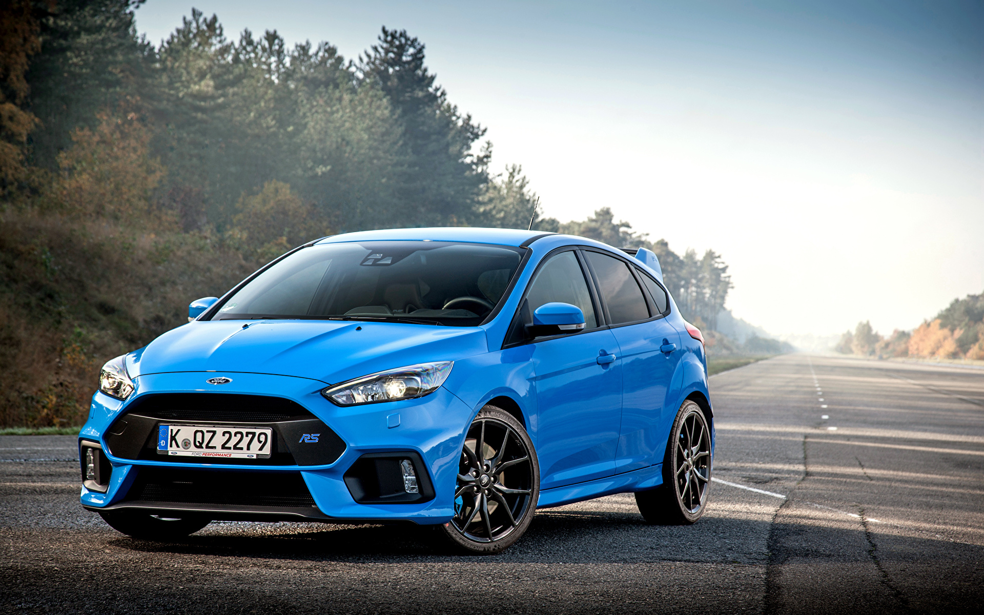 wallpapers ford focus rs light blue auto 1920x1200
