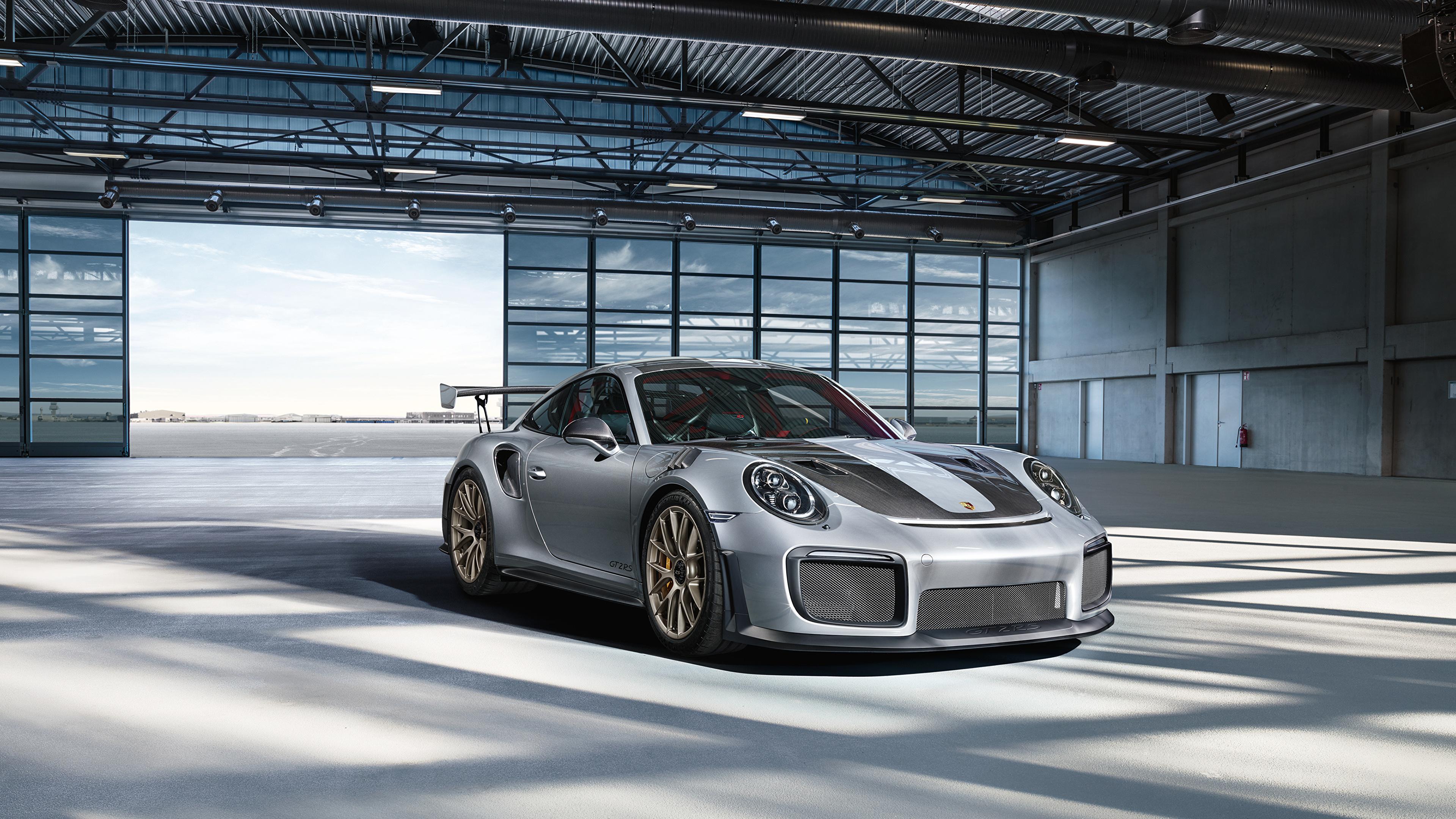 Wallpaper Porsche 911 gt2 rs Silver color automobile 3840x2160 Cars auto