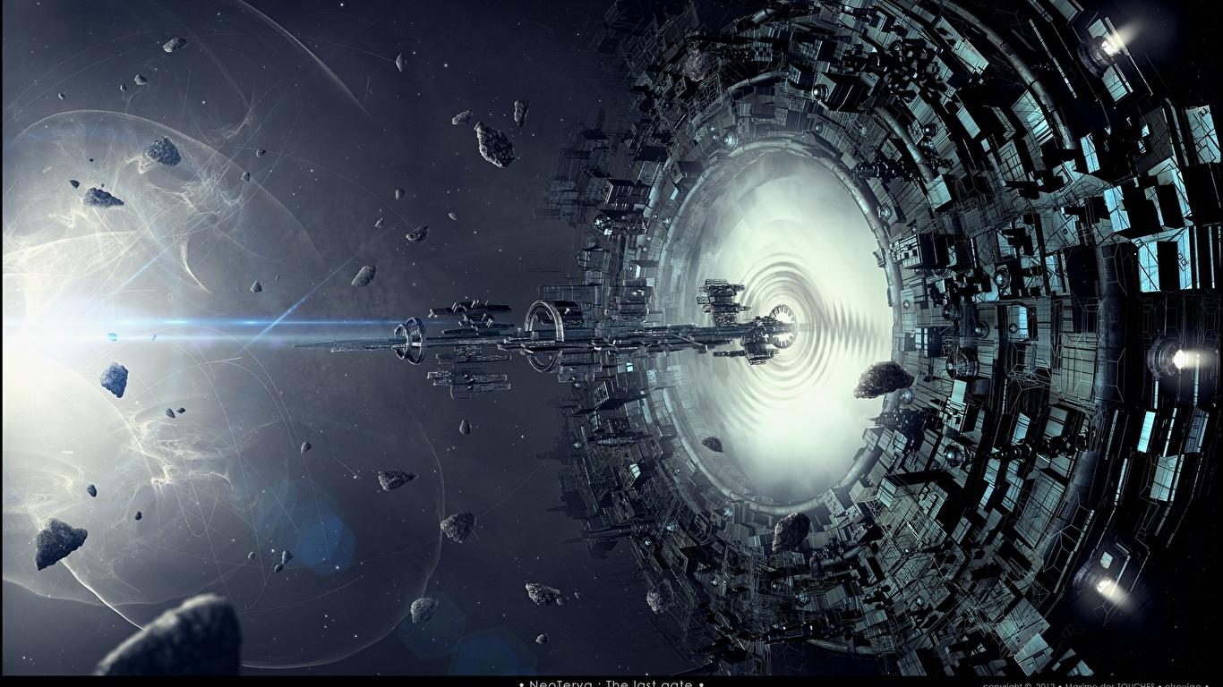Wallpaper Space Fantasy ship Technics Fantasy 1366x768 Ships