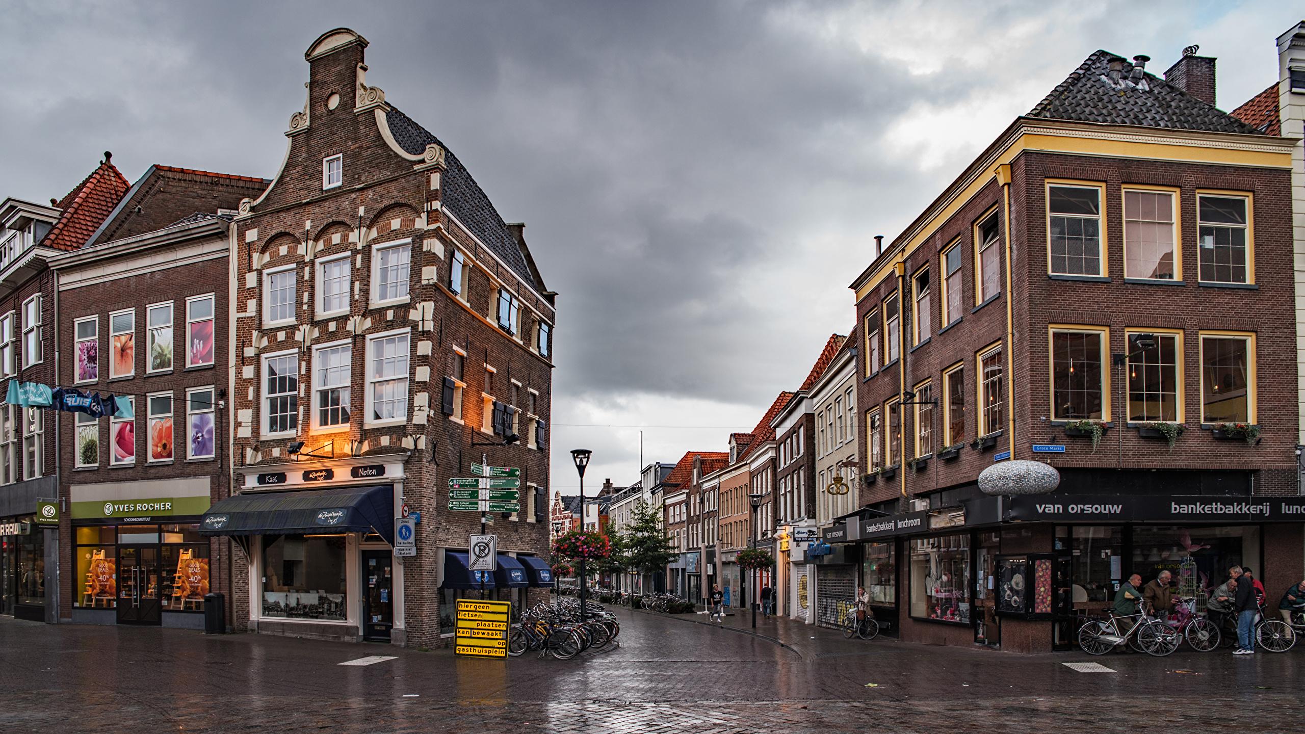 Fondos De Pantalla 2560x1440 Países Bajos Casa Zwolle Calle