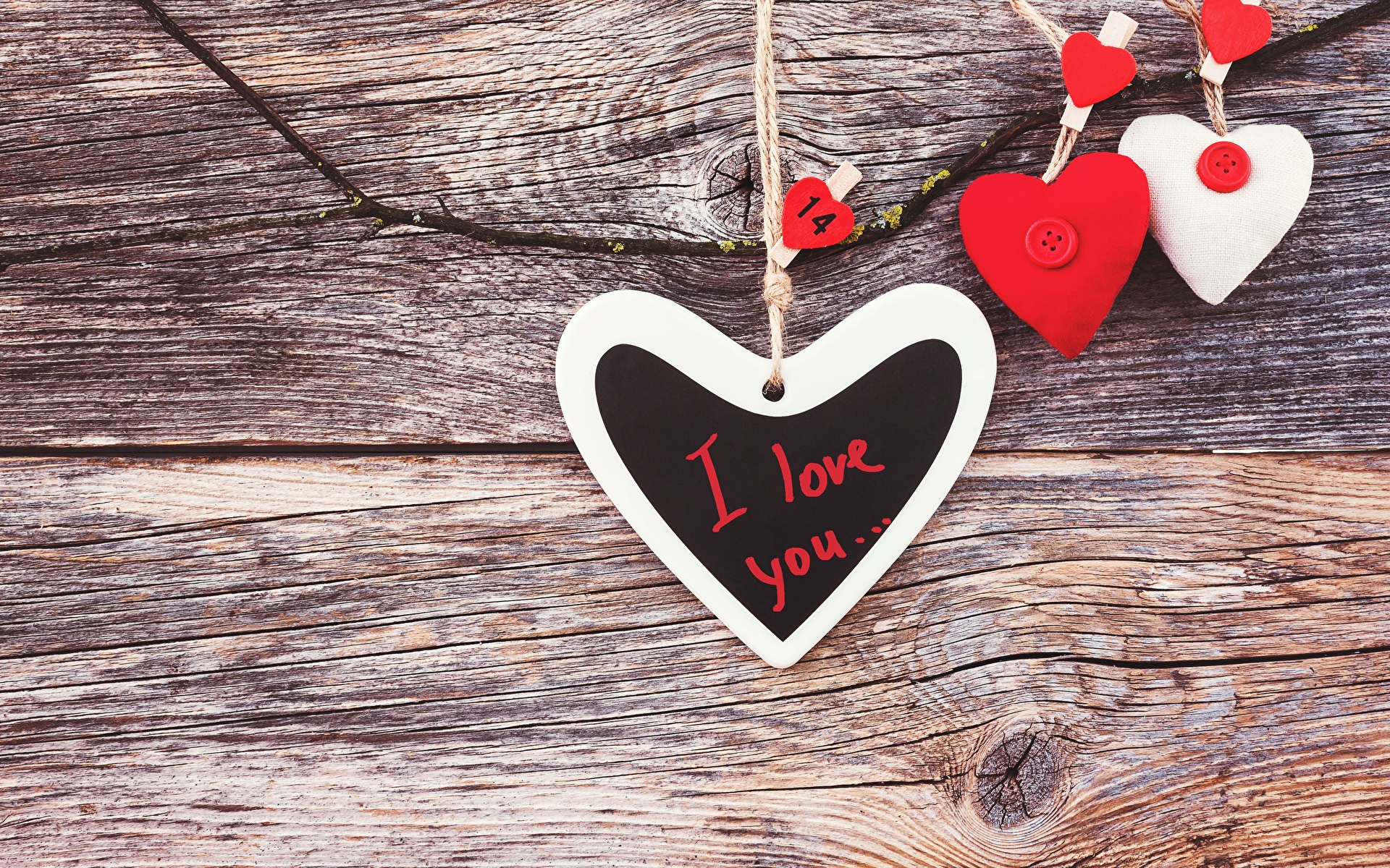 Images Valentine's Day English Heart lettering Template greeting card Wood planks 1920x1200 text Word - Lettering boards