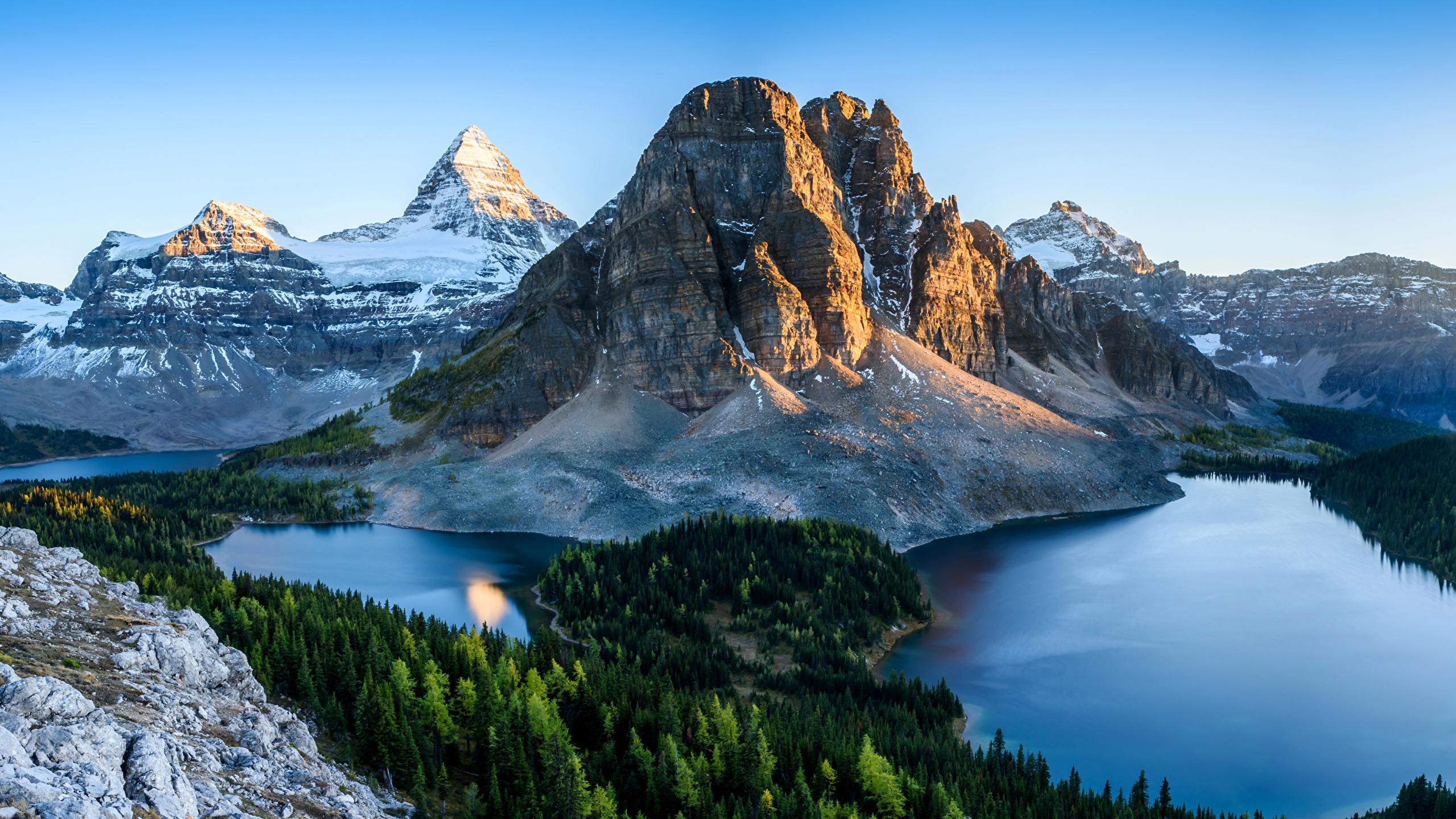Fonds Decran 2560x1440 Canada Parc Montagnes Lac Forêts
