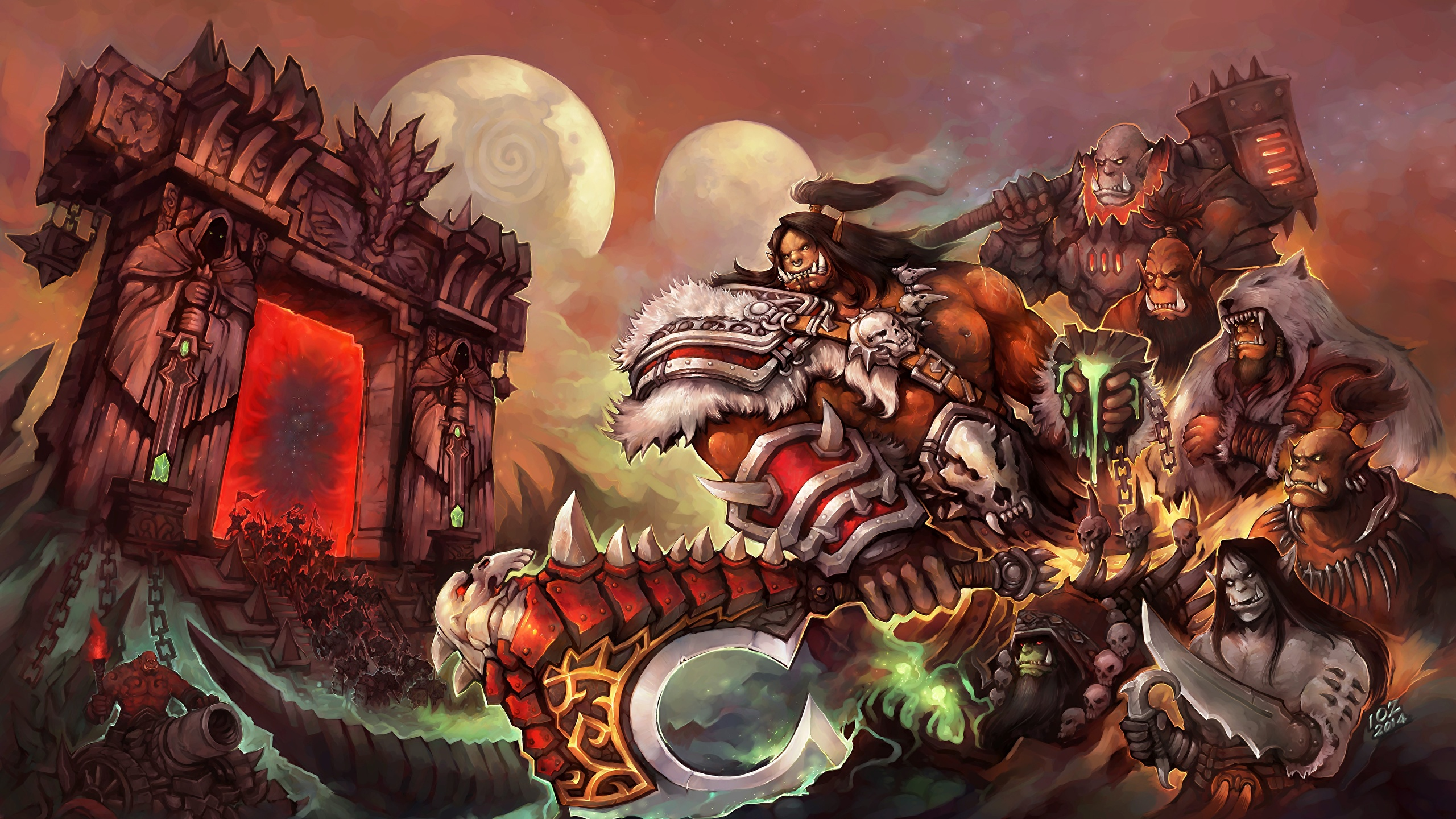 Images World Of Warcraft Orc Monsters Fantasy Vdeo Game 2560x1440