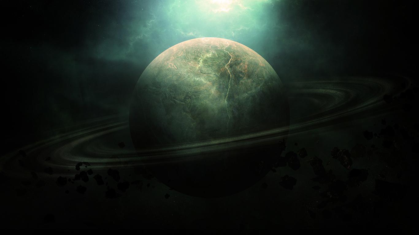 壁紙 1366x768 惑星 土星 環 天体 宇宙空間 ダウンロード 写真