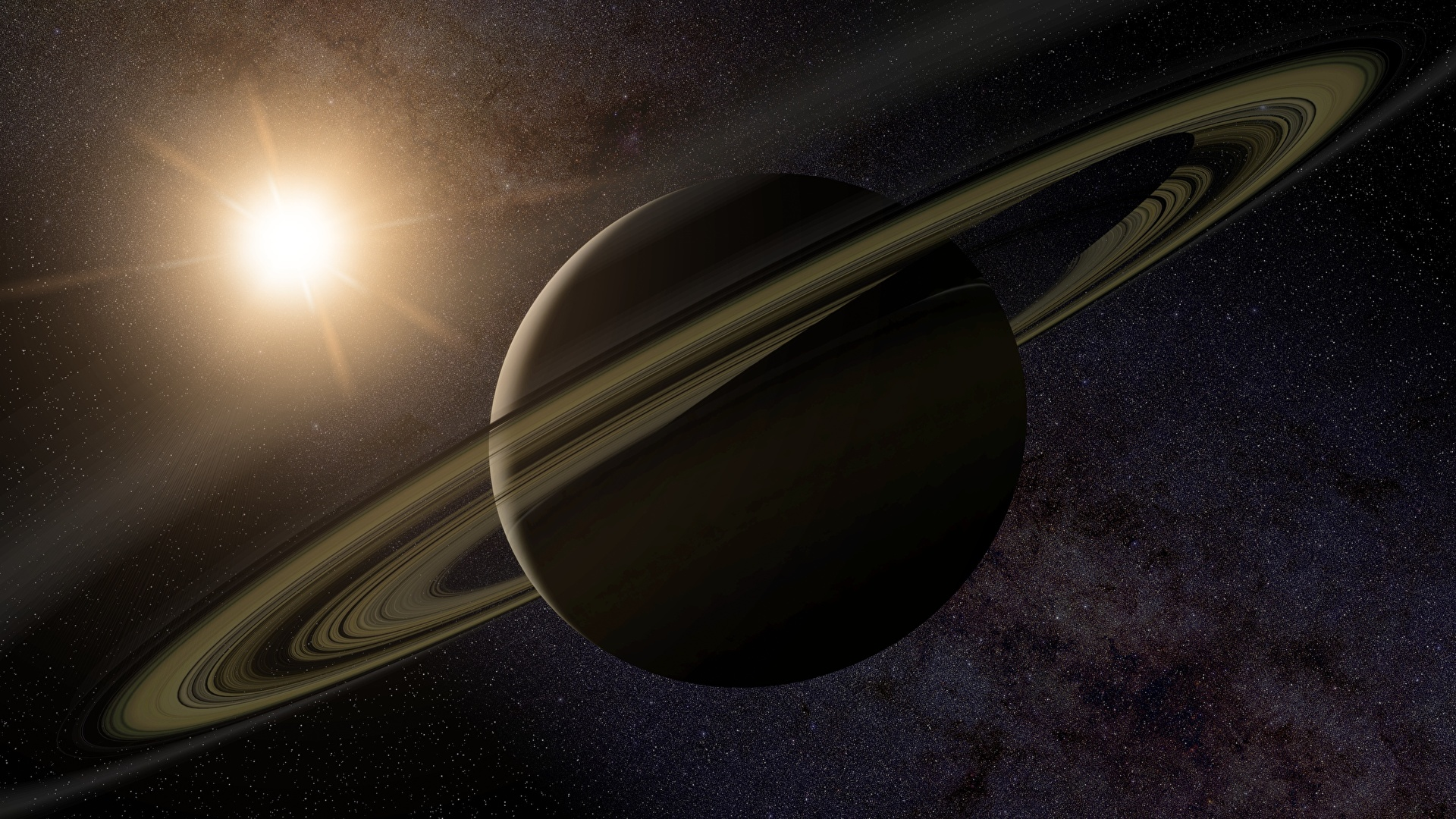 Pictures Planets Saturn Planet Ring System Space 3d 1920x1080