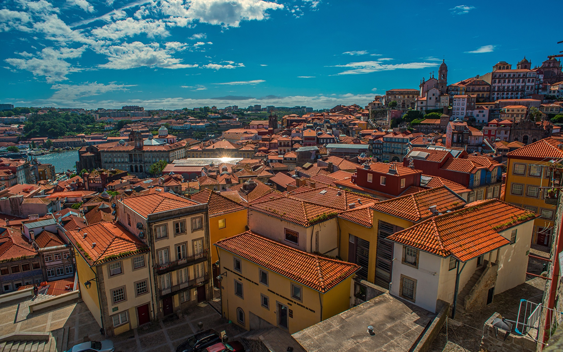 Images Porto Portugal Roof Houses Cities 1920x1200 Oporto Building