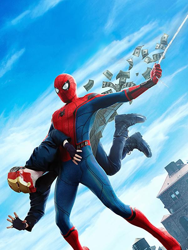 Desktop Wallpapers Spider-Man: Homecoming Heroes comics Spiderman hero film 600x800 for Mobile phone superheroes Movies