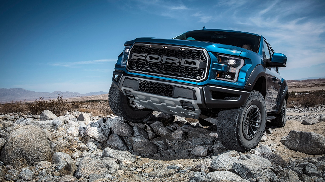 Photo Ford Supercrew 2019 Raptor F 150 Cars Front 1366x768