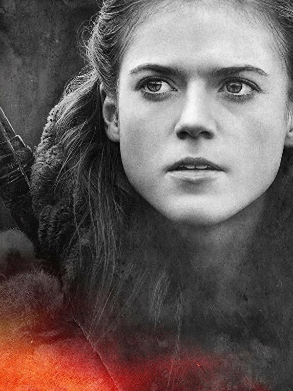 Foto Game of Thrones Ygritte, Rose Leslie Gesicht Mädchens Film Großansicht 600x800 für Handy junge frau junge Frauen hautnah Nahaufnahme