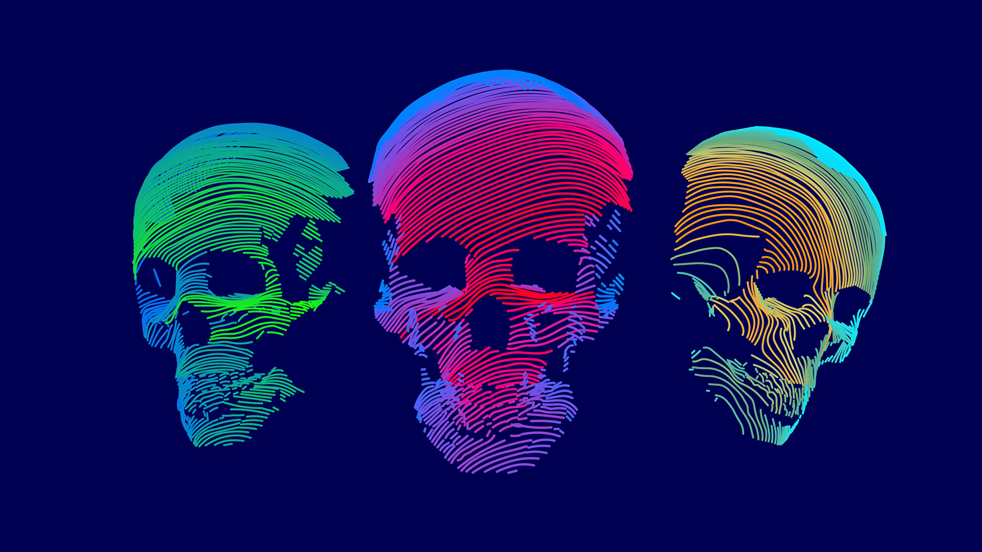 Pictures Skulls 3D Graphics Three 3 ...