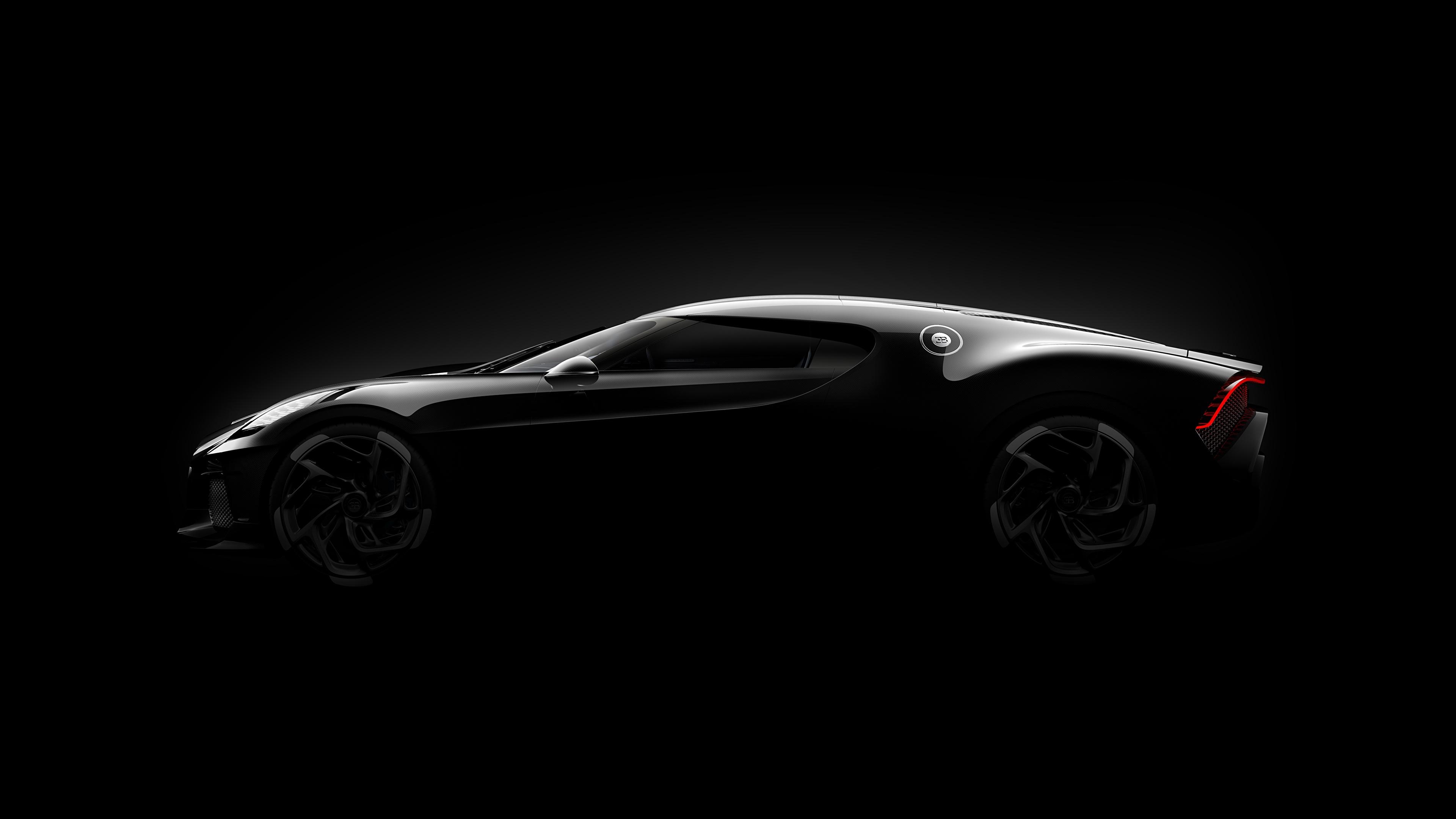 Download 2019 Bugatti La Voiture Noire Luxury Car: Image BUGATTI 2019 La Voiture Noire Black Cars Side Black
