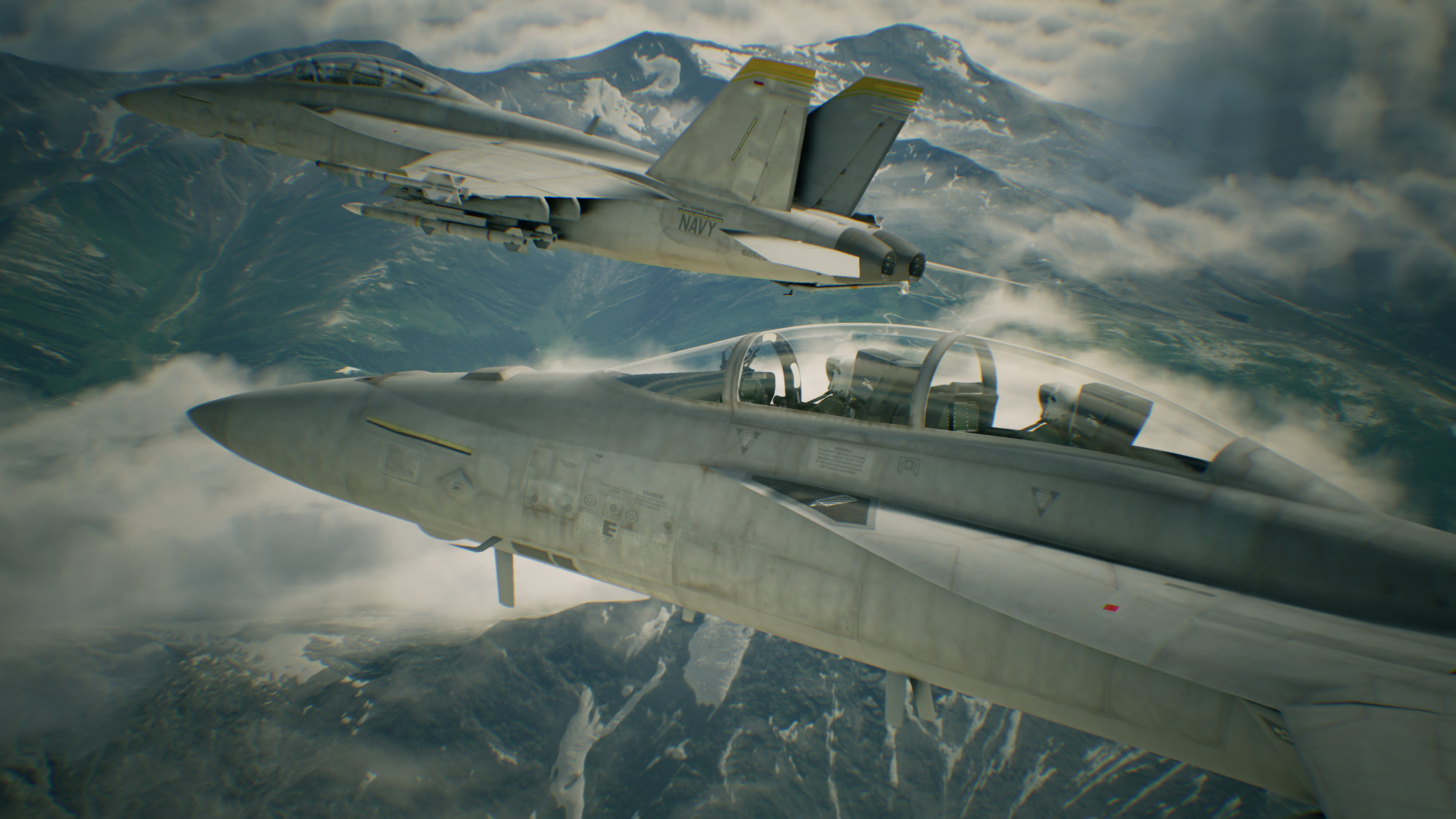 Wallpaper Ace Combat 7: Skies Unknown Fighter aircraft 3840x2160