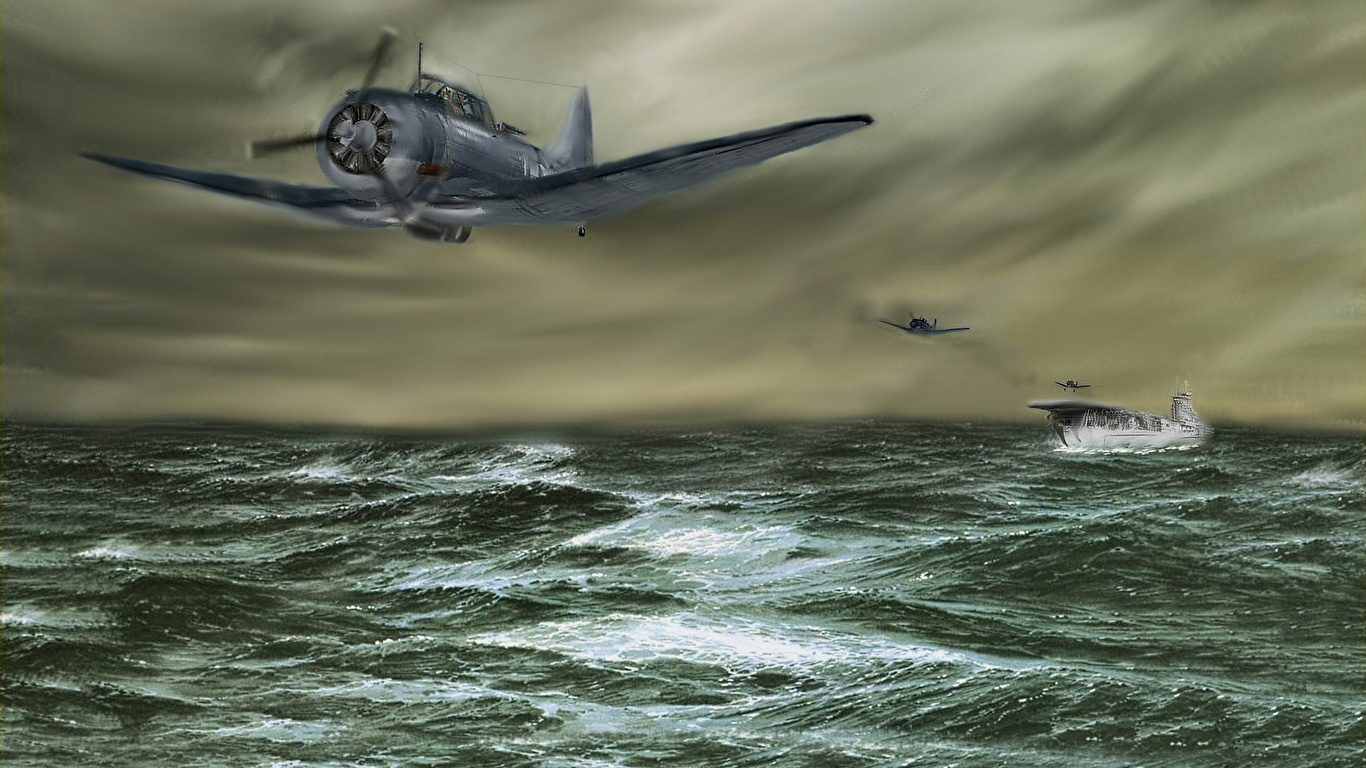 wallpapers airplane aircraft carrier the vb-6 pilots from 1366x768