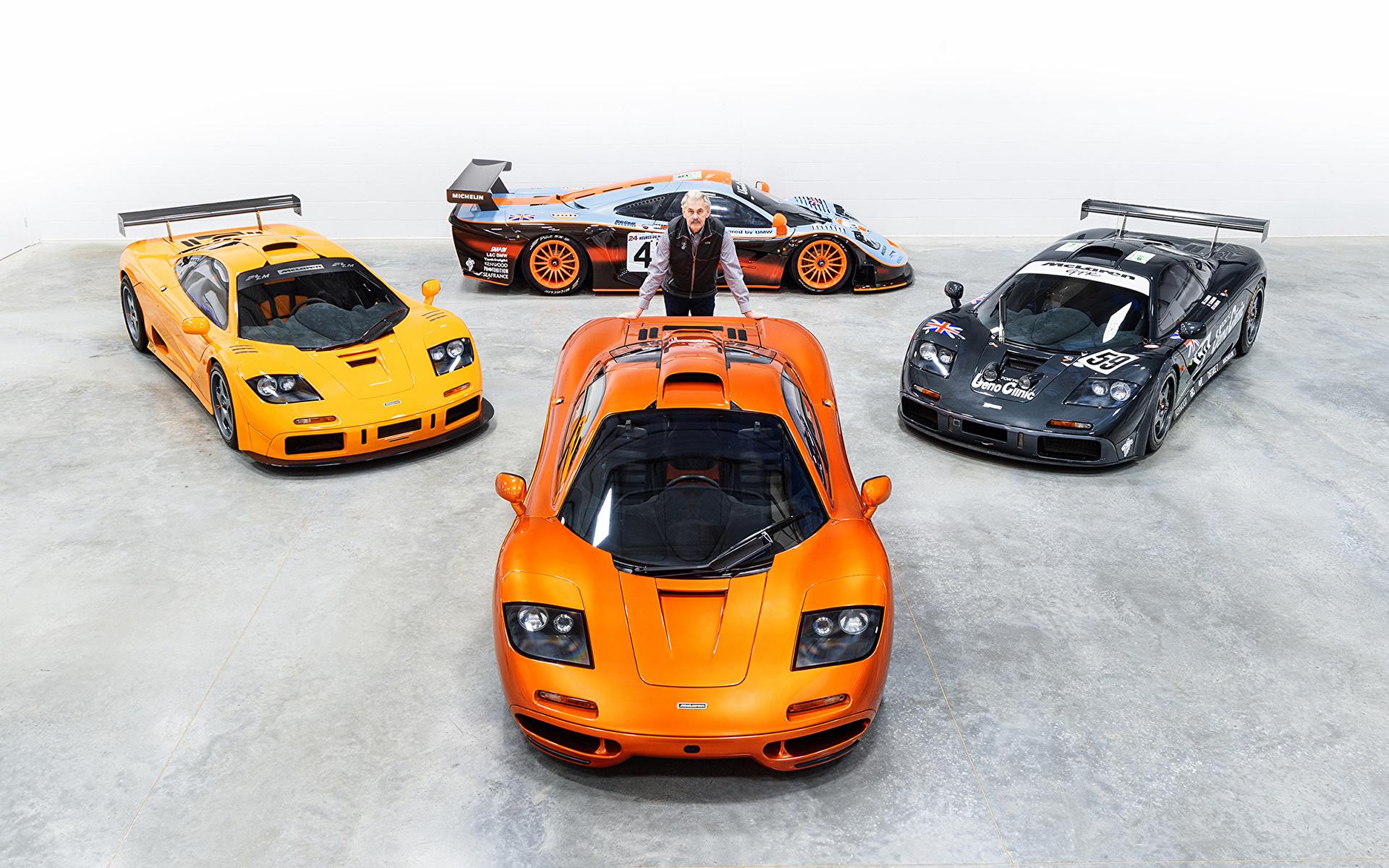 Achtergronden bureaublad Tuning McLaren Mannen F1, Gordon Murray Oranje Auto 1920x1200 een man auto's automobiel