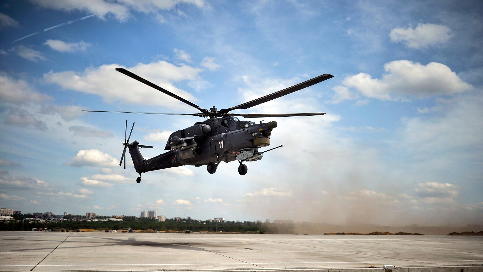Fotos Hubschrauber Russische Mi-28N Luftfahrt 2048x1152
