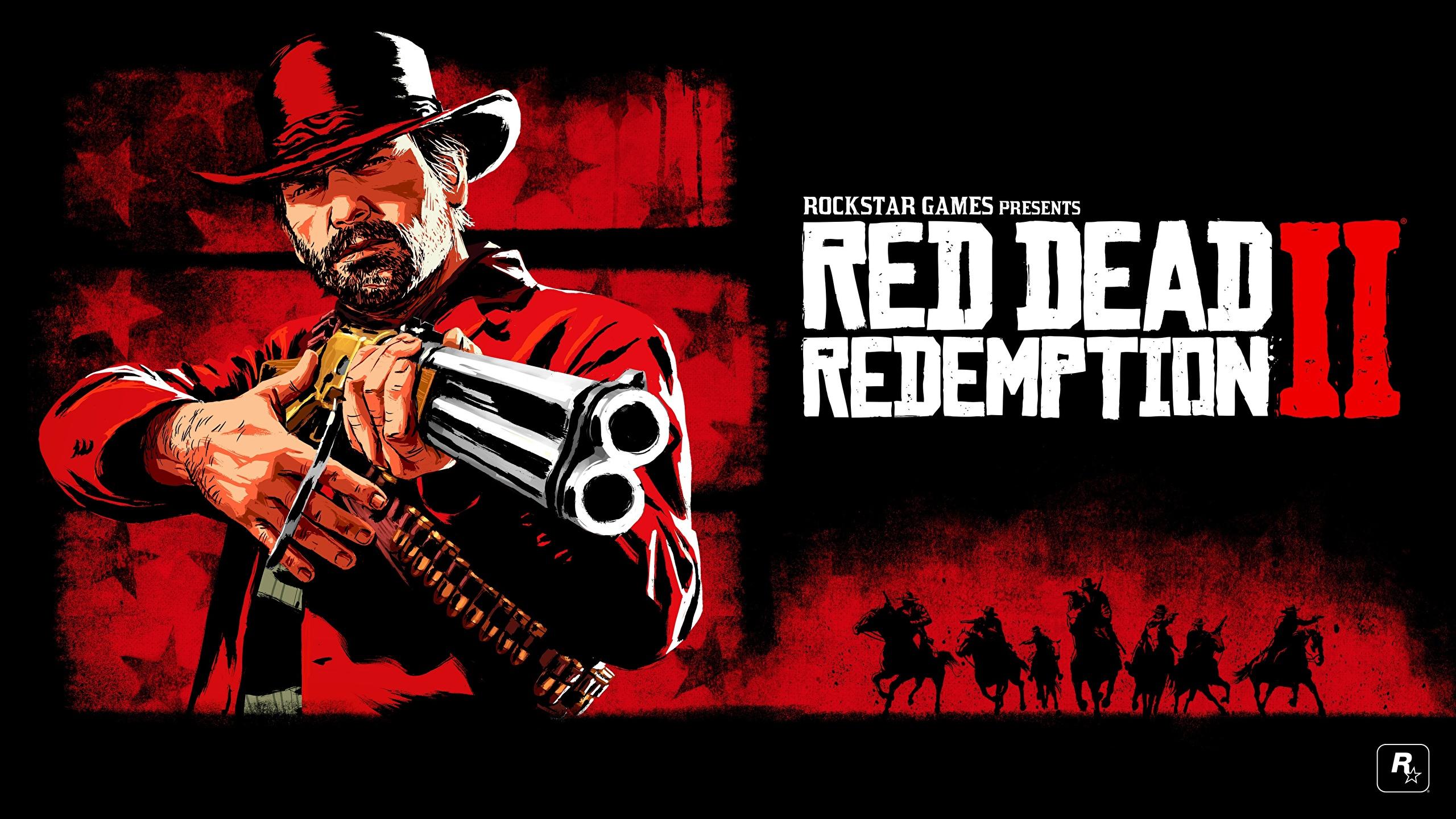 Photo Red Dead Redemption 2 Rifle Man Arthur Morgan Hat 2560x1440