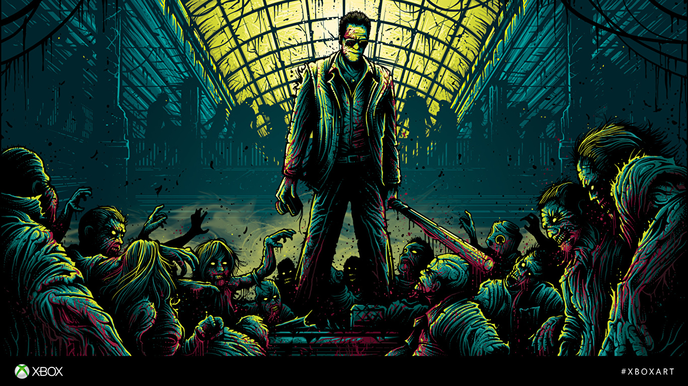 Wallpaper Dead Rising Zombie Blood Frank West Vdeo Game 1366x768