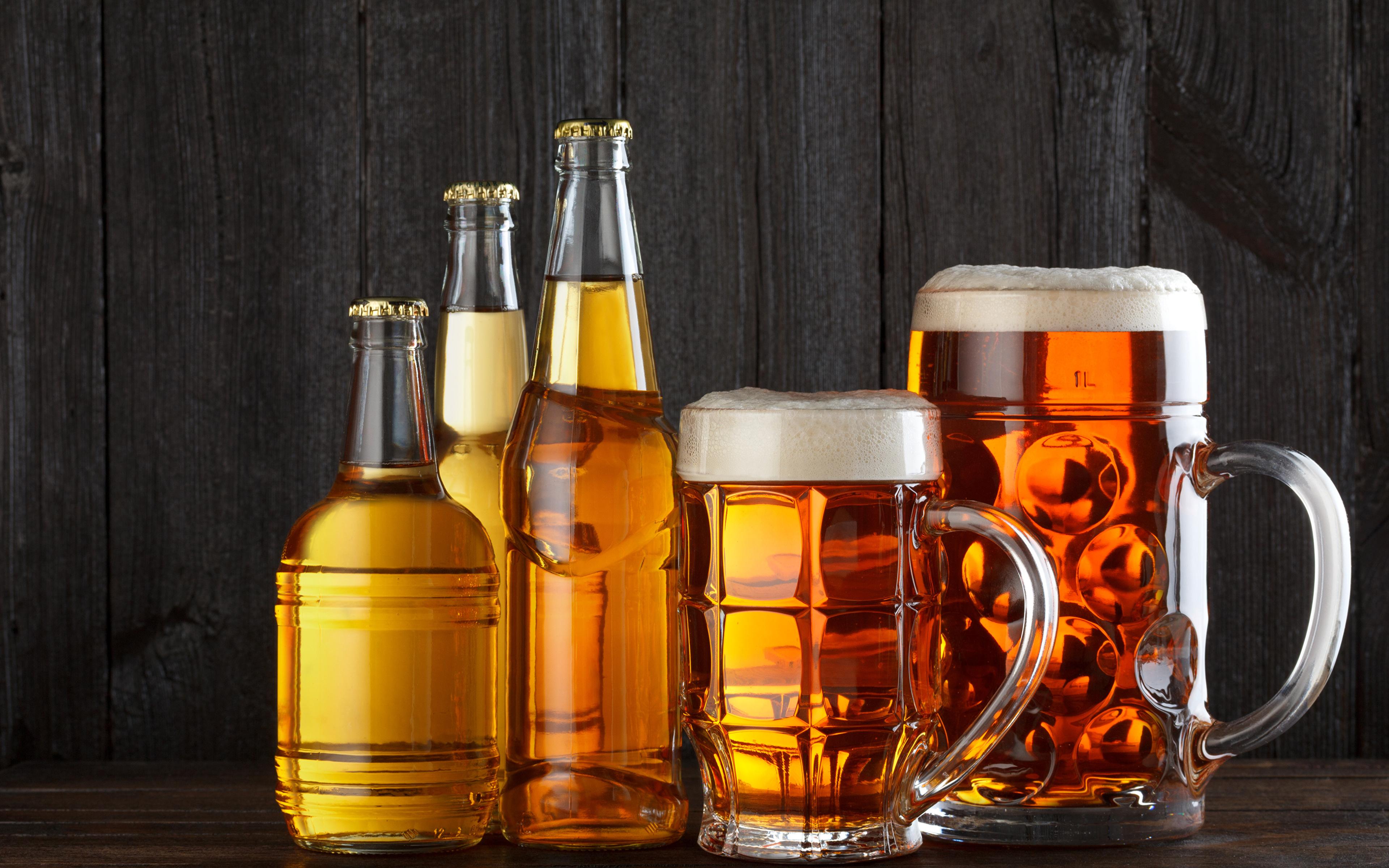 Images Beer Mug Foam Food Bottles Drinks 3840x2400