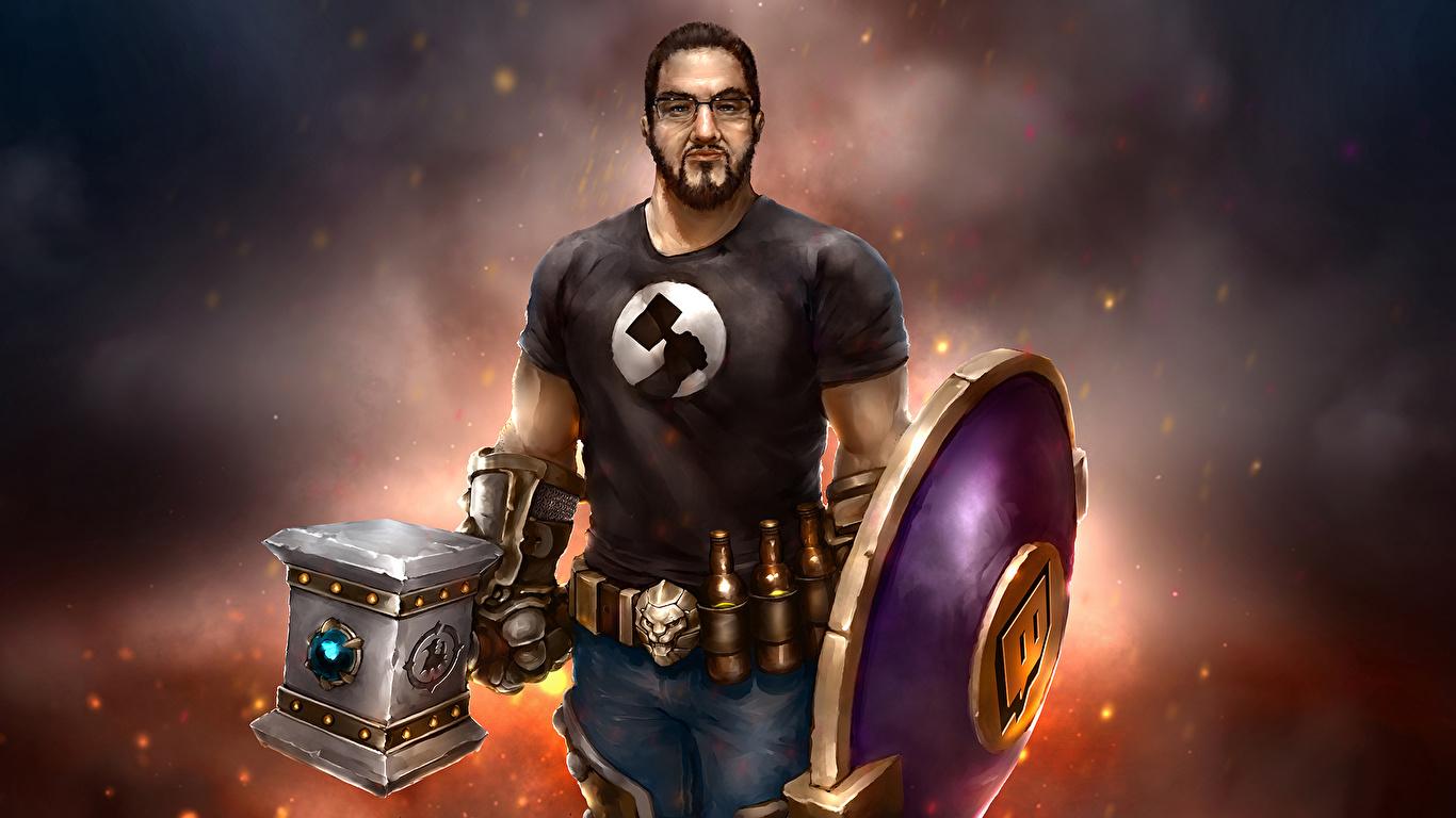 Fondos De Pantalla 1366x768 World Of Warcraft Varón Fan Art
