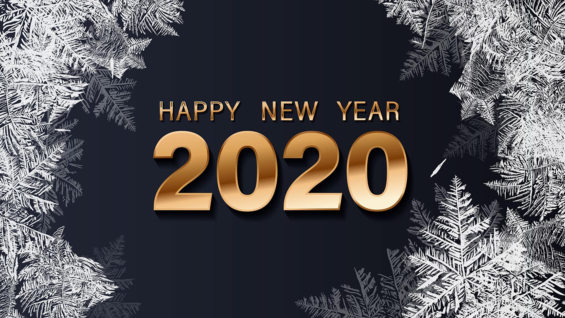 Image 2020 Christmas English Snowflakes Word   Lettering 1920x1080