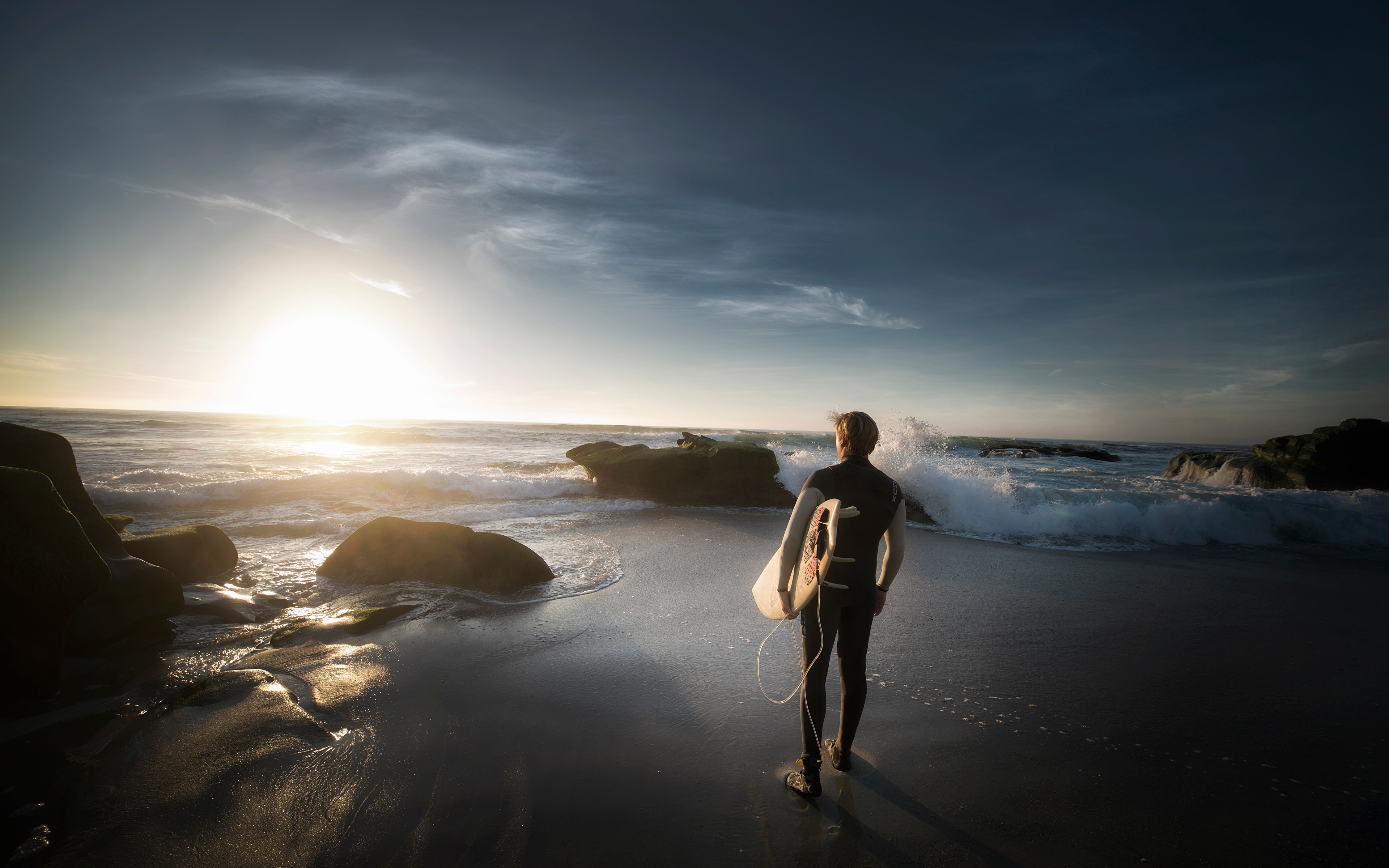 Picture Men Beaches Surfing Athletic Sunrises And Sunsets