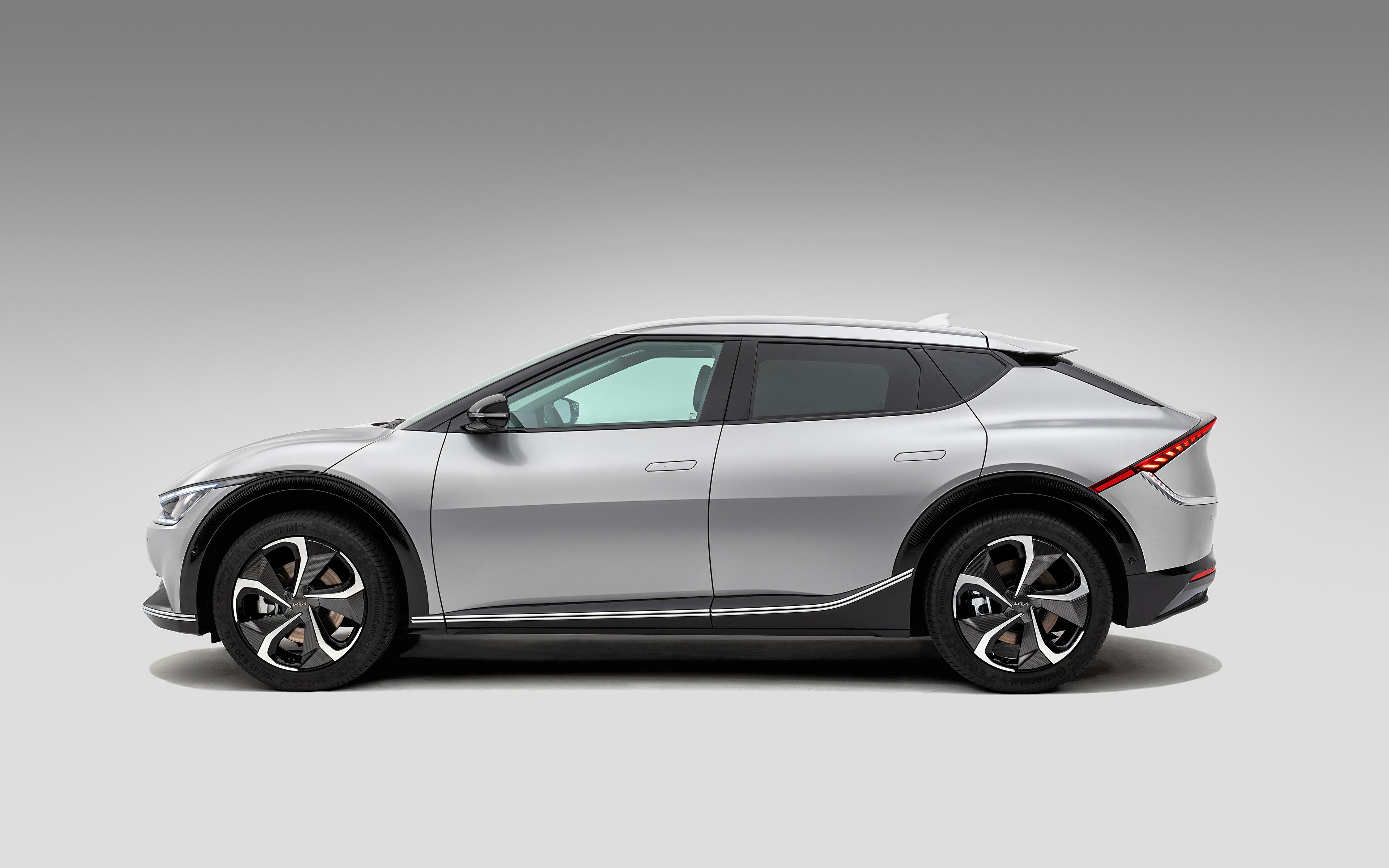 3840x2400 KIA EV6, (Worldwide), 2021 Gris Métallique Latéralement voiture, automobile, grise Voitures