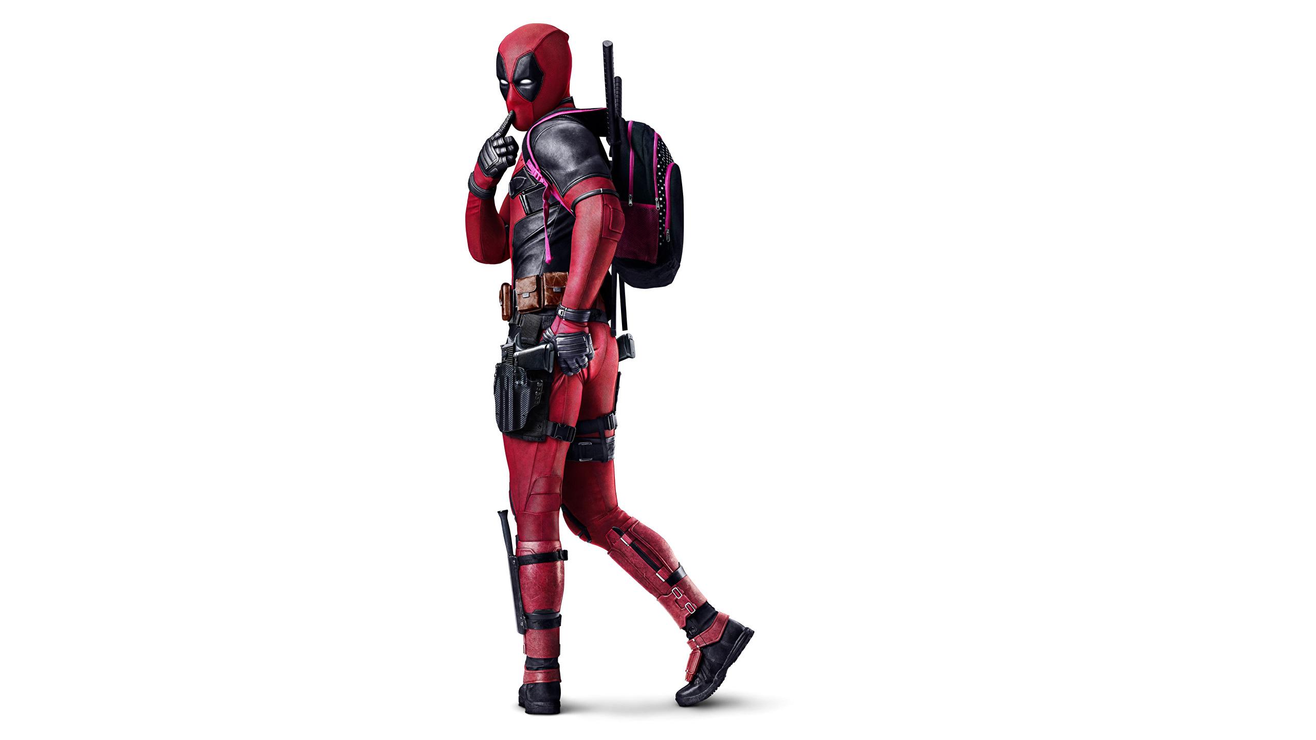 Fonds Decran 2560x1440 Deadpool Héros Fond Blanc Fantasy