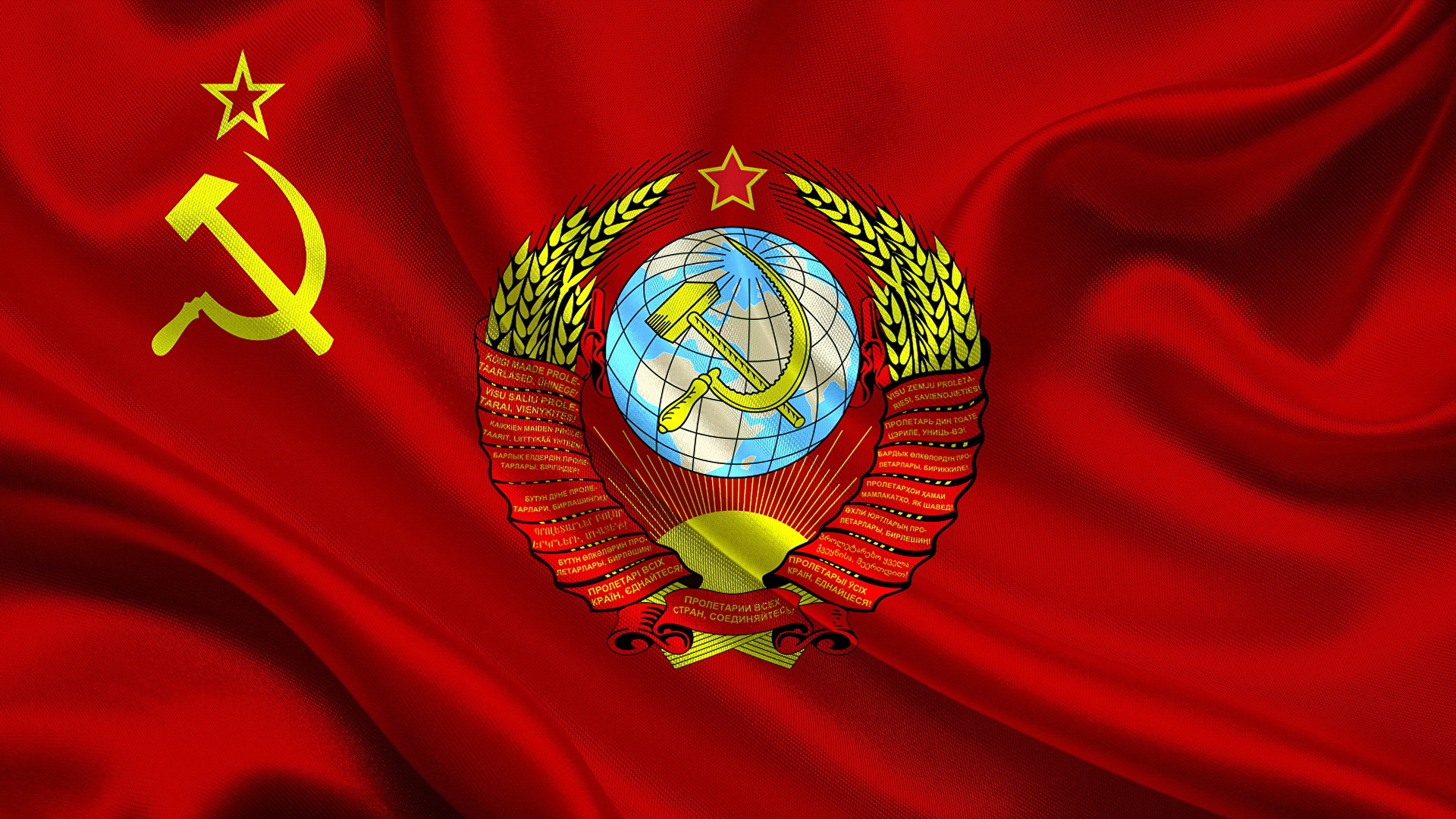 Picture Coat Of Arms Soviet Union Hammer And Sickle Flag 1920x1080