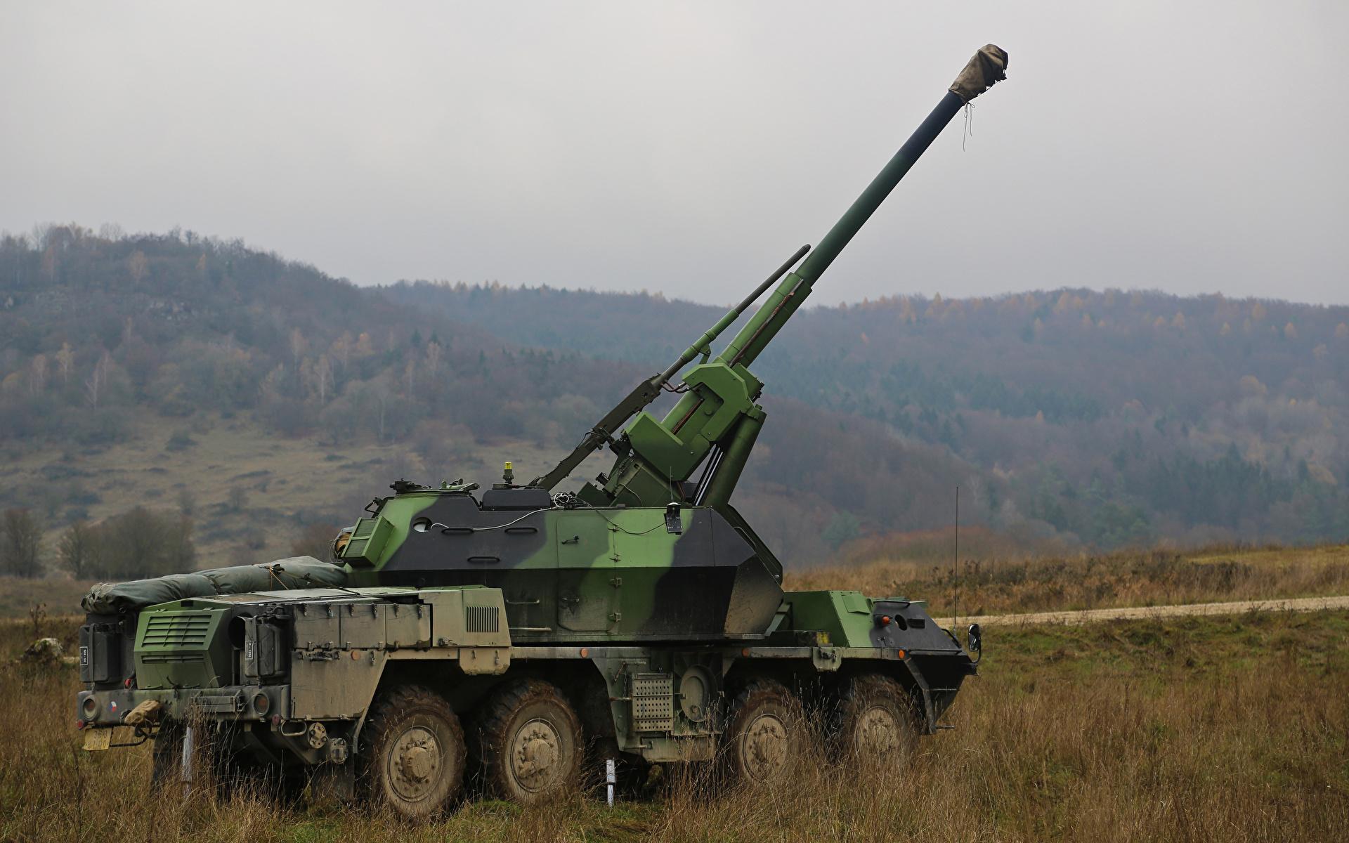 1920x1200、カノン砲、自走砲、1979-89 DANA ShKH vz.77、、陸軍、