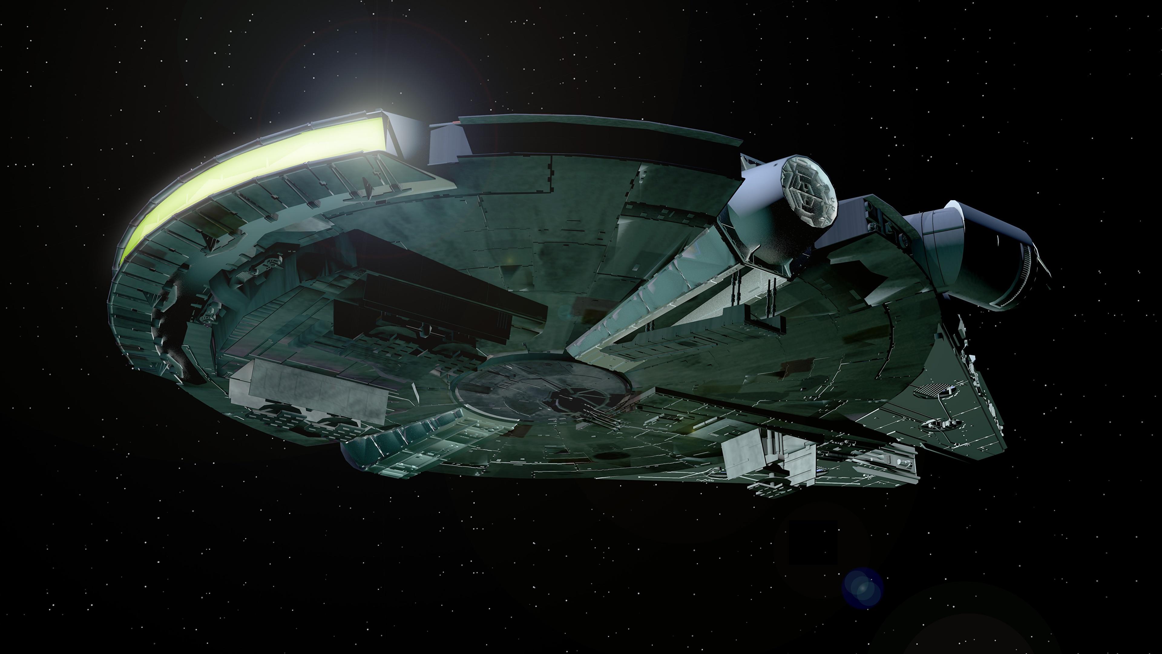 Desktop Wallpapers Star Wars Movies Starship Millennium 3840x2160