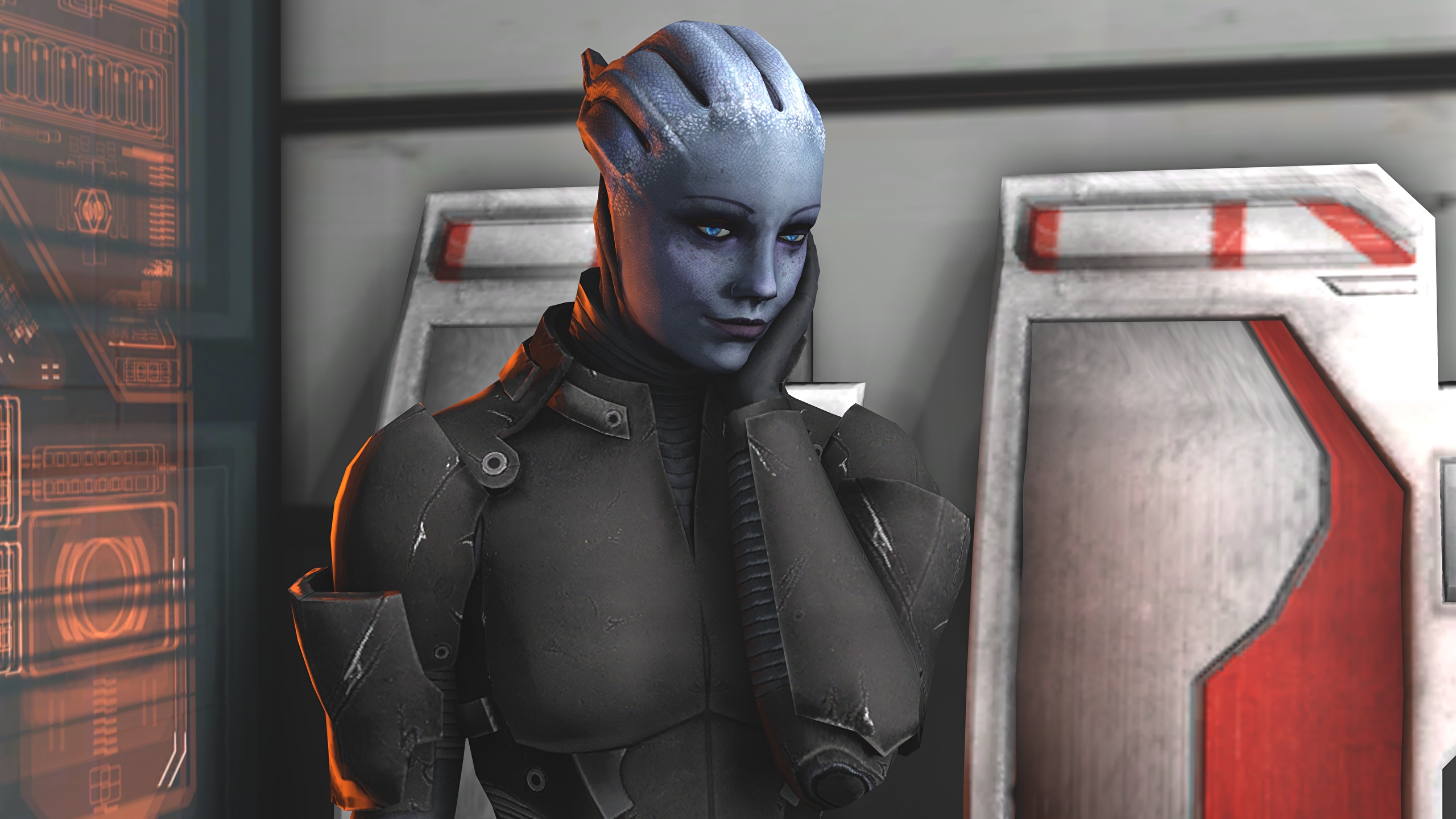 Wallpaper Liara Mass Effect Aliens T Soni Games 2560x1440