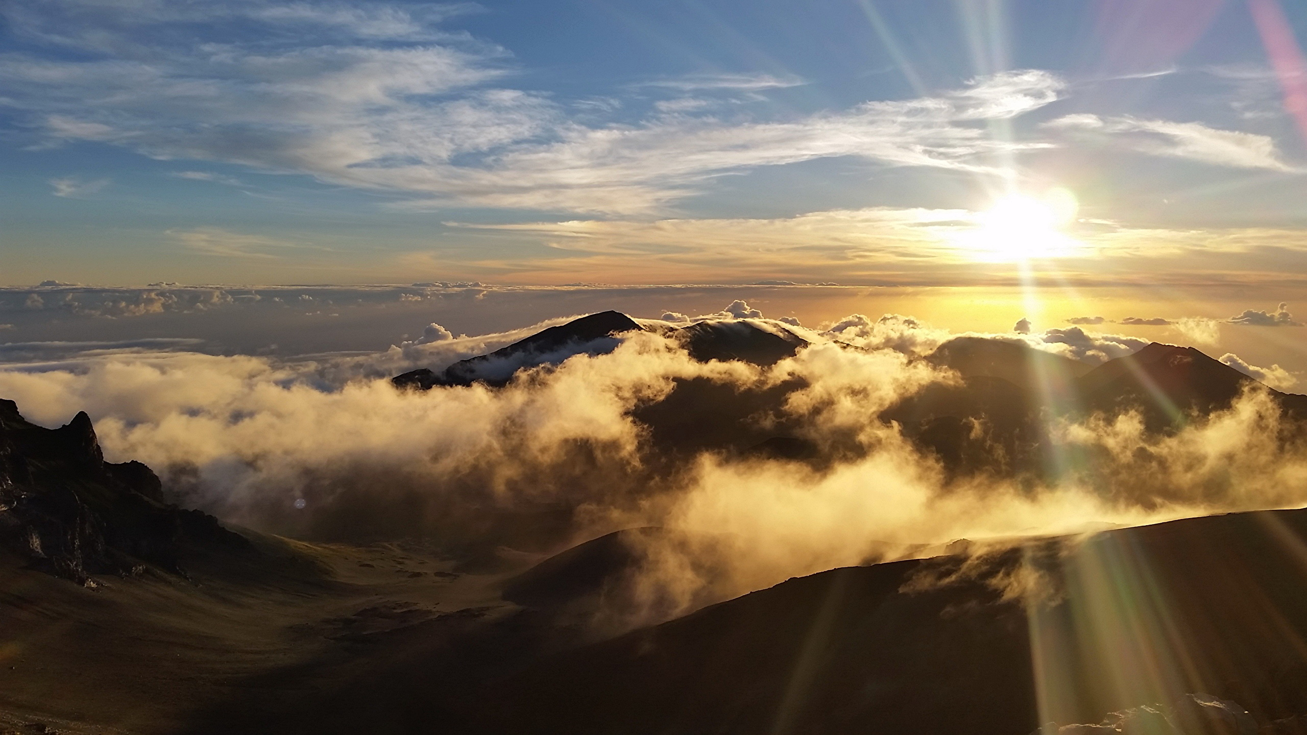 Photos Usa Haleakala National Park Sun Nature Mountains 2560x1440