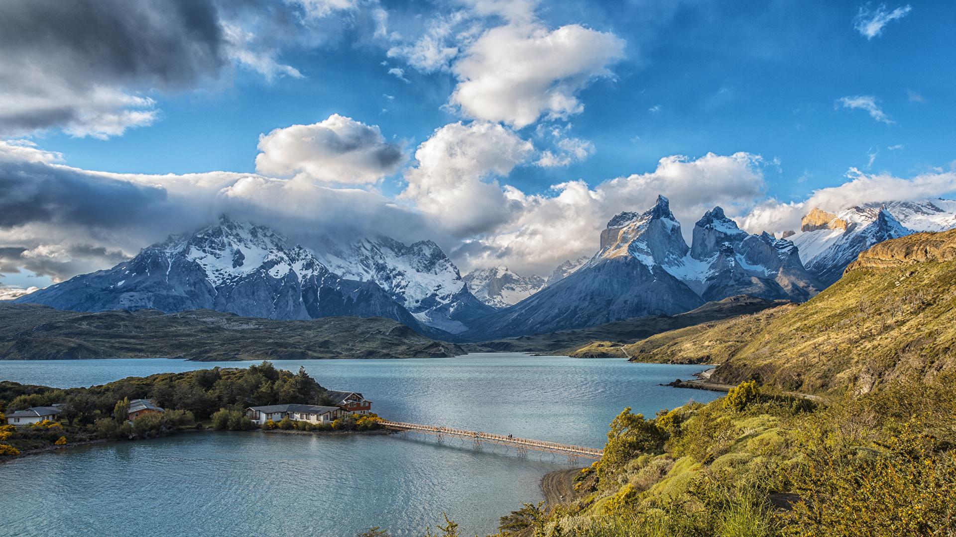 Fondo Escritorio Paisaje Nevada En Cumbre: Images Chile Lake Pehoe Torres Del Paine National Park