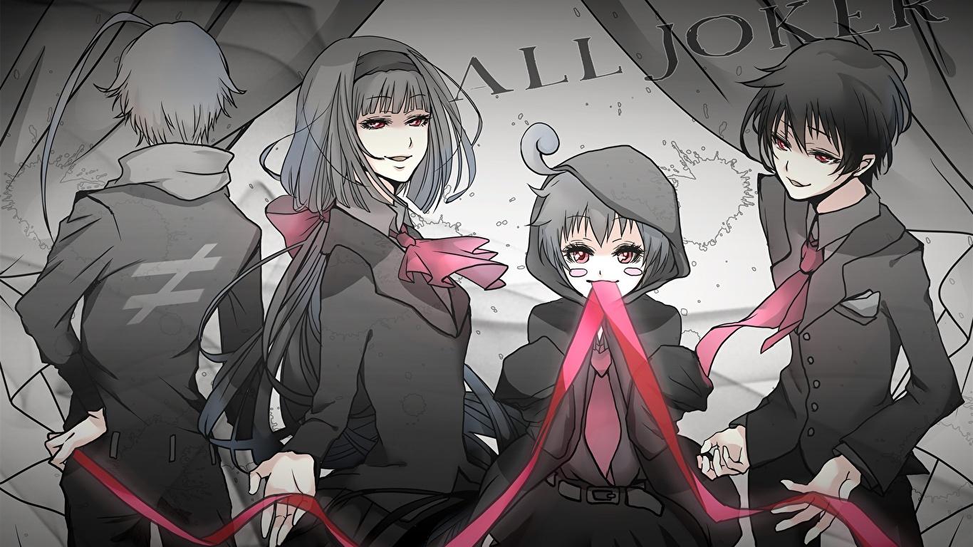Desktop Wallpapers Medaka Box Guy Girls Anime 1366x768